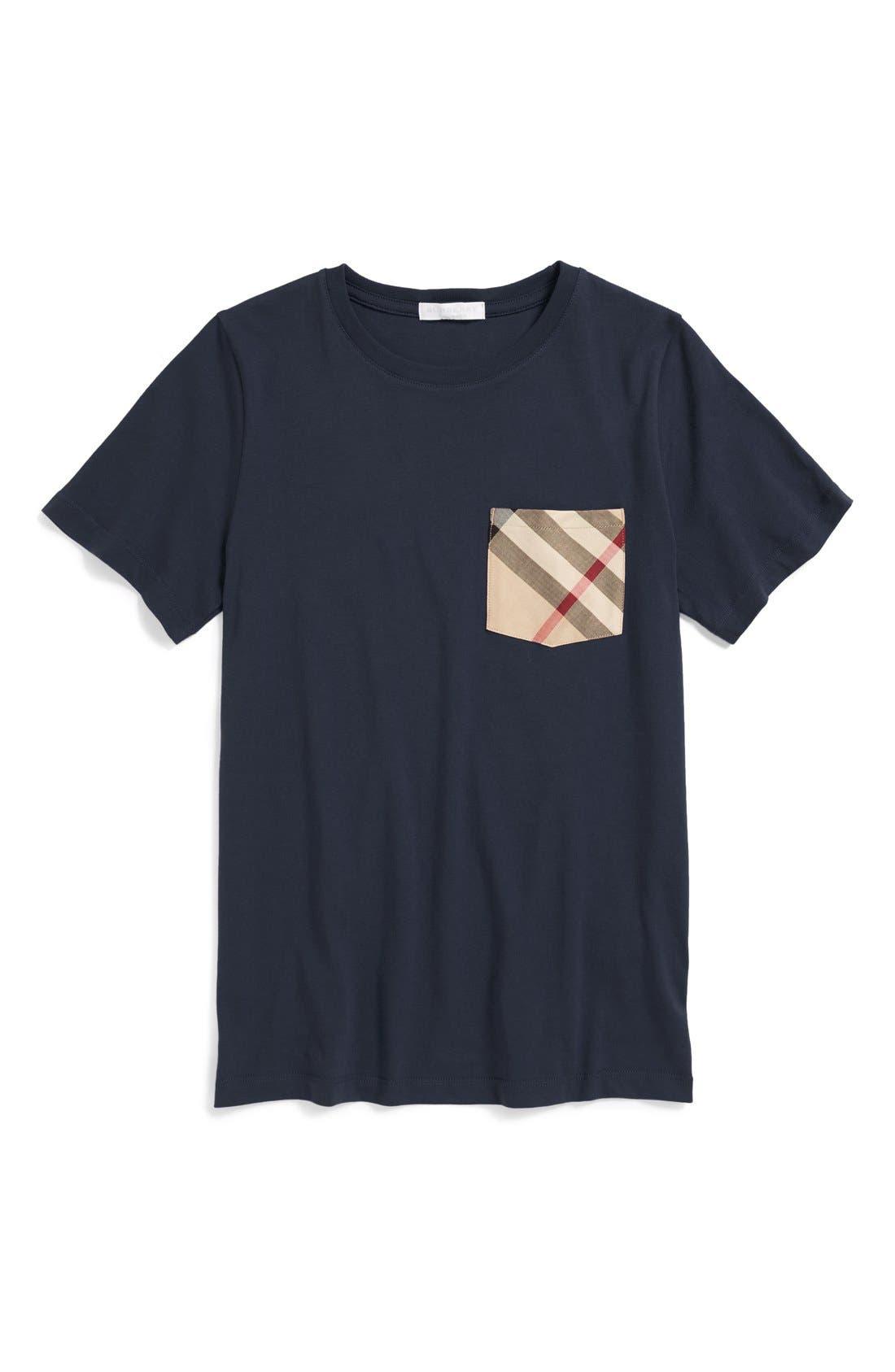 Contrast Pocket T-Shirt,                         Main,                         color, 411
