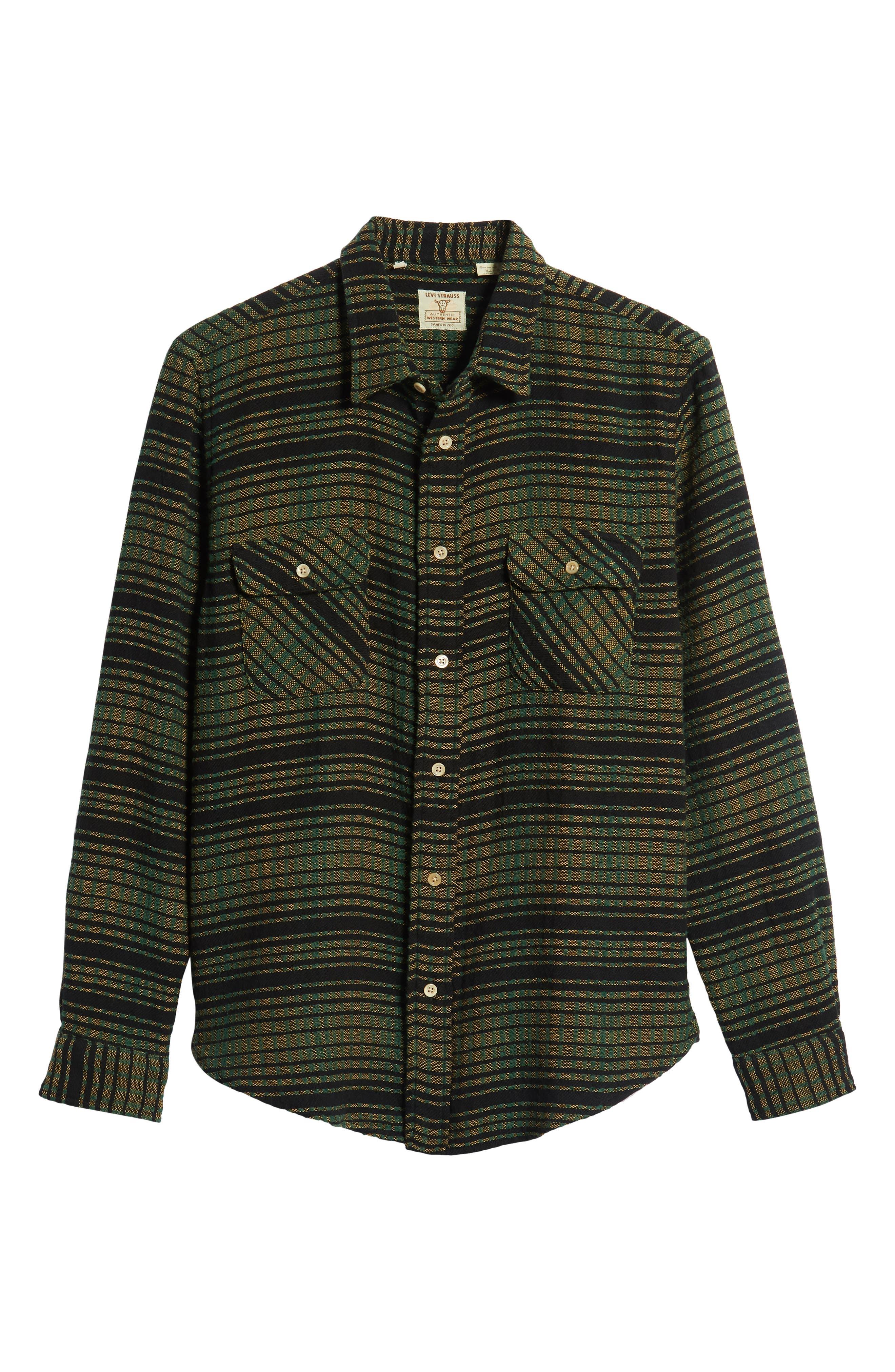 LEVI'S<SUP>®</SUP> VINTAGE CLOTHING,                             Shorthorn Slim Fit Sport Shirt,                             Alternate thumbnail 5, color,                             300