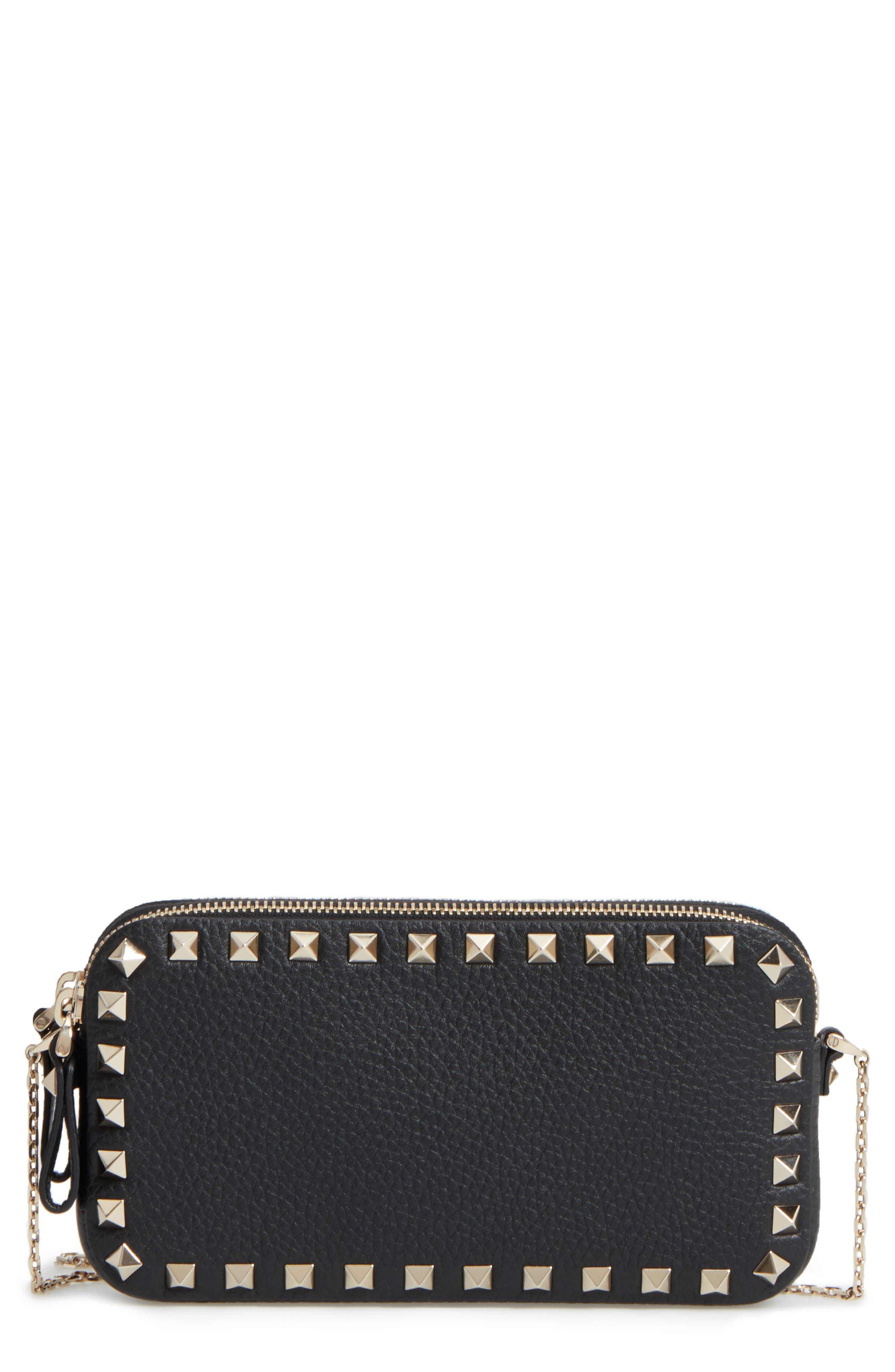 Rockstud Leather Crossbody Bag,                             Main thumbnail 1, color,