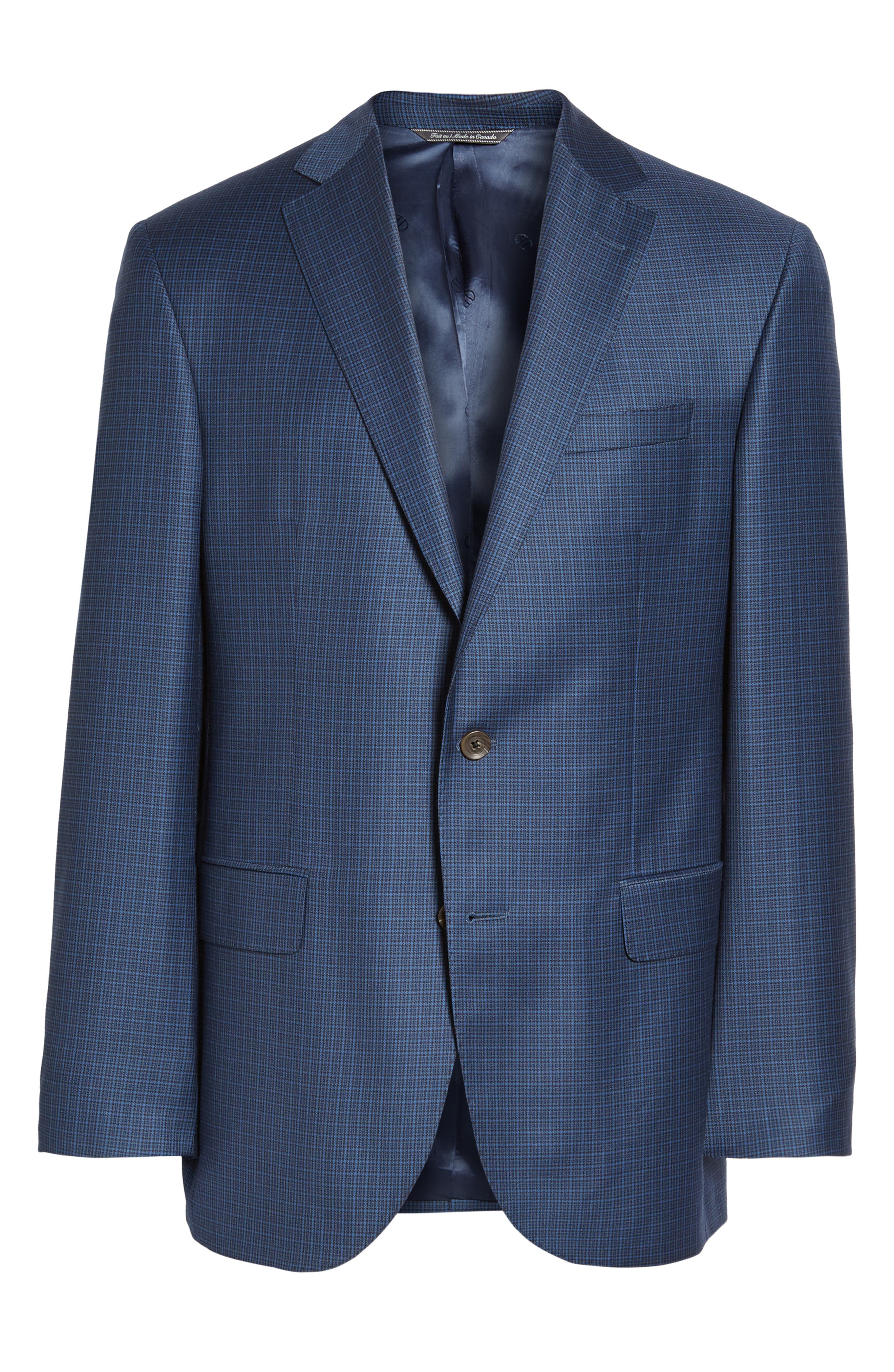 Connor Classic Fit Check Wool Sport Coat,                             Alternate thumbnail 5, color,