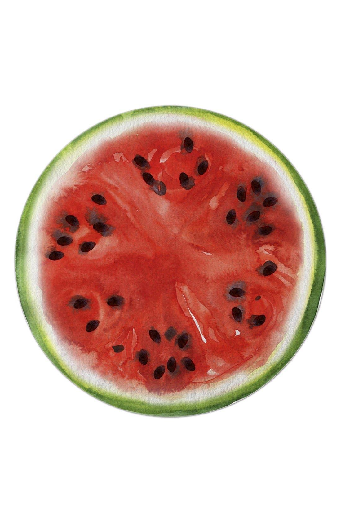 Watermelon Round Beach Towel,                             Main thumbnail 1, color,                             600