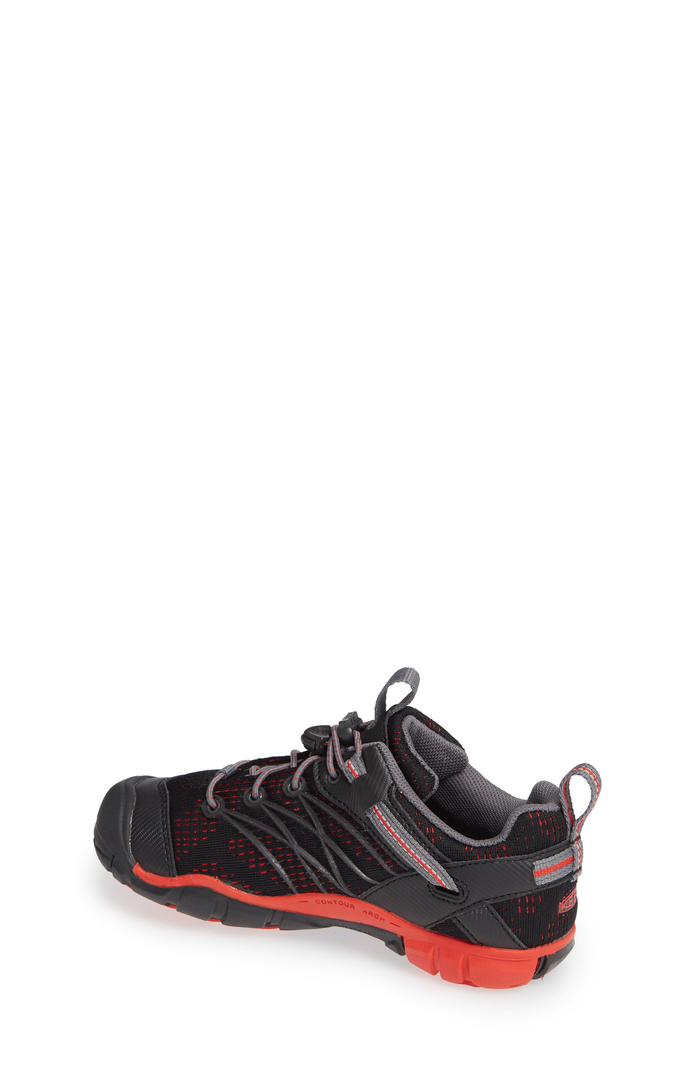'Chandler CNX' Water Friendly Sneaker,                             Alternate thumbnail 2, color,                             RAVEN/ FIRE RED
