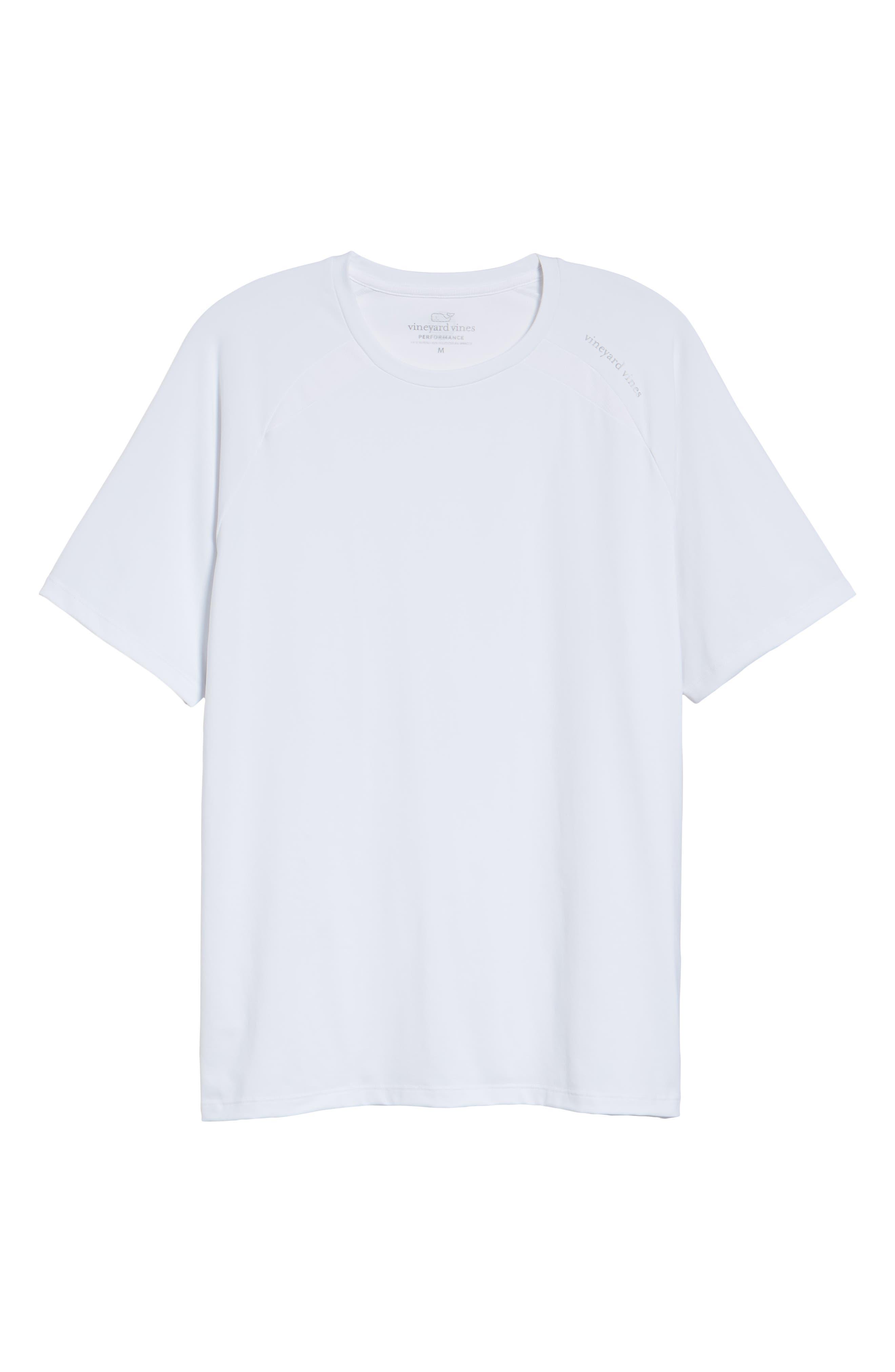 Mesh Inset T-Shirt,                             Alternate thumbnail 6, color,                             WHITE CAP