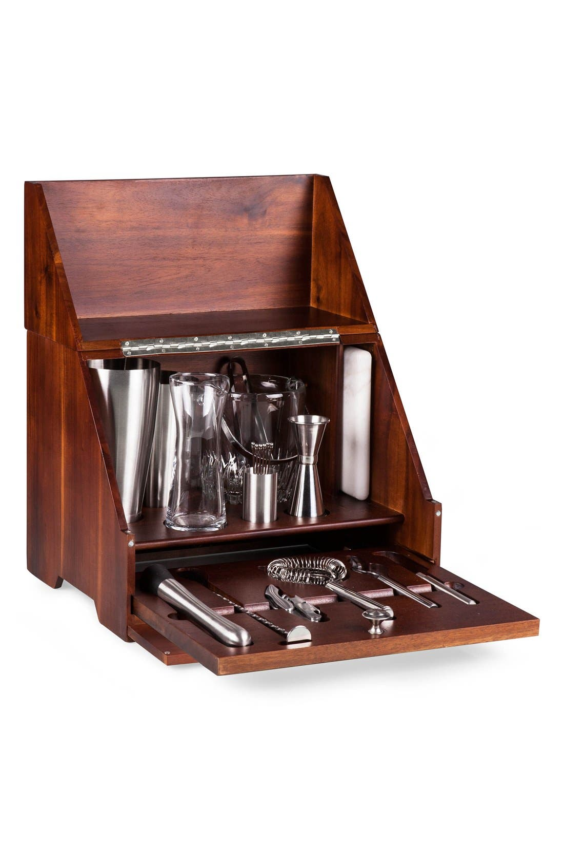 'Madison' Tabletop Bar Set,                             Alternate thumbnail 3, color,                             BROWN