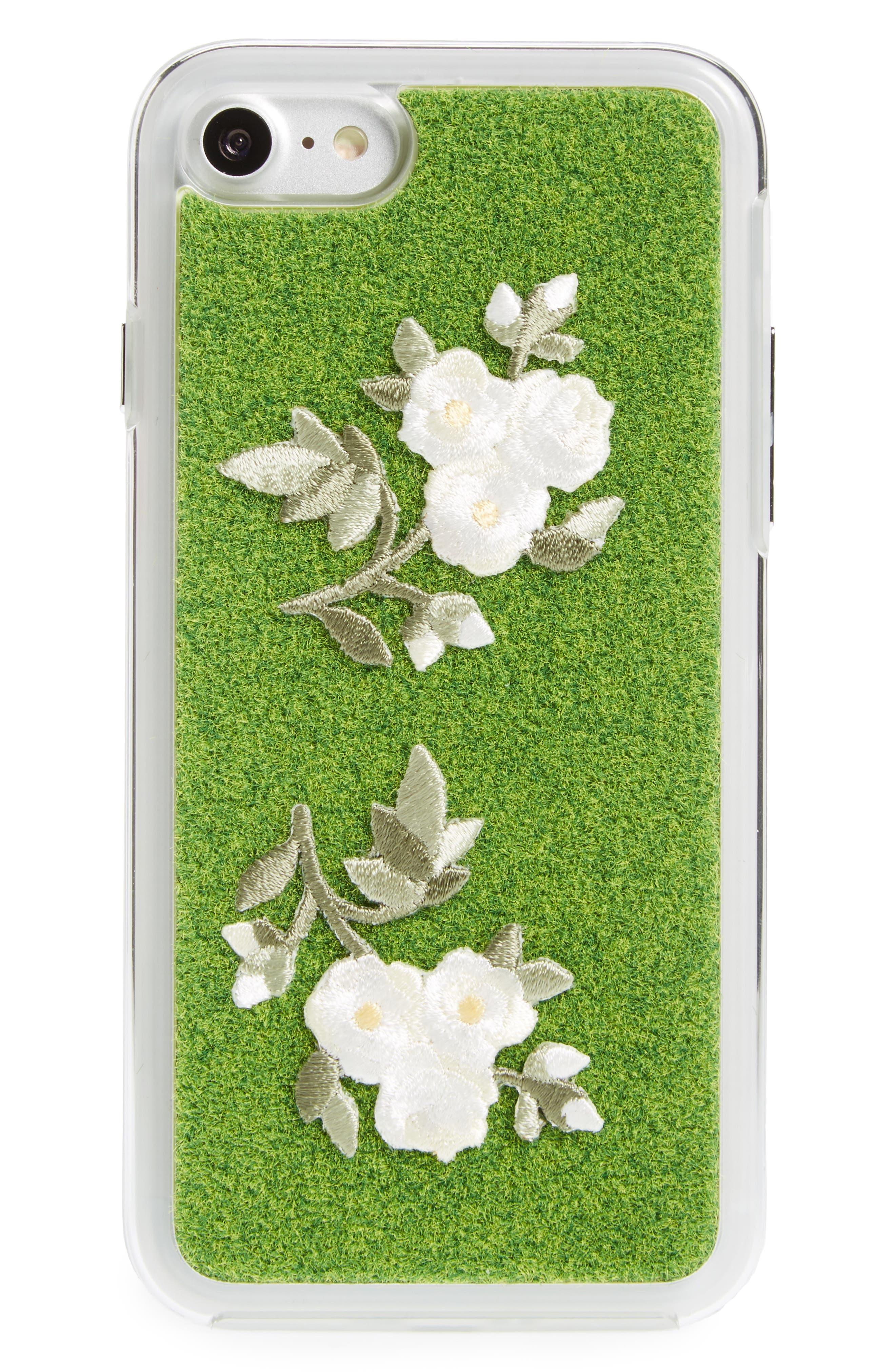 Mokko Bara Flower Portable Park iPhone 7/8 & 7/8 Plus Case,                             Alternate thumbnail 3, color,                             ORIGINAL GREEN