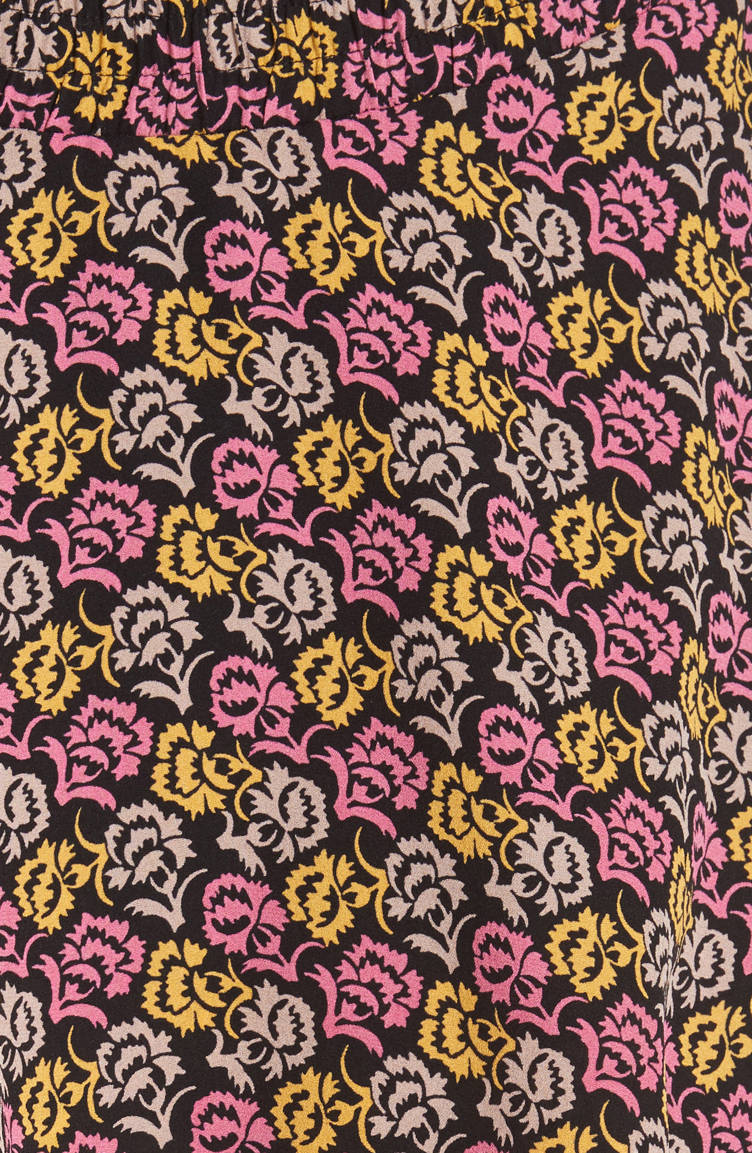 Titus Print Silk Tiered Maxi Dress,                             Alternate thumbnail 5, color,                             651
