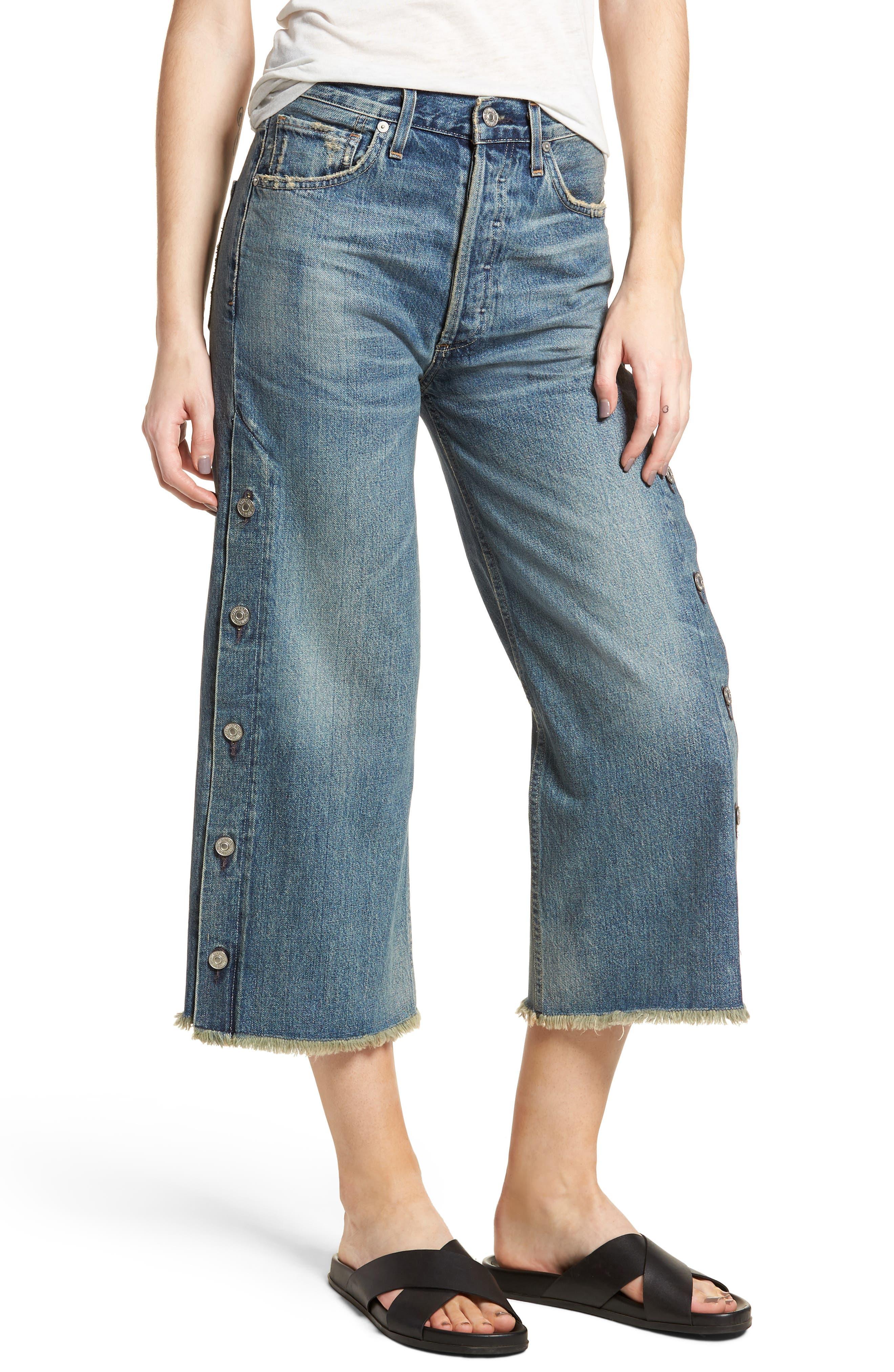 Emma High Waist Crop Wide Leg Jeans,                             Main thumbnail 1, color,                             428