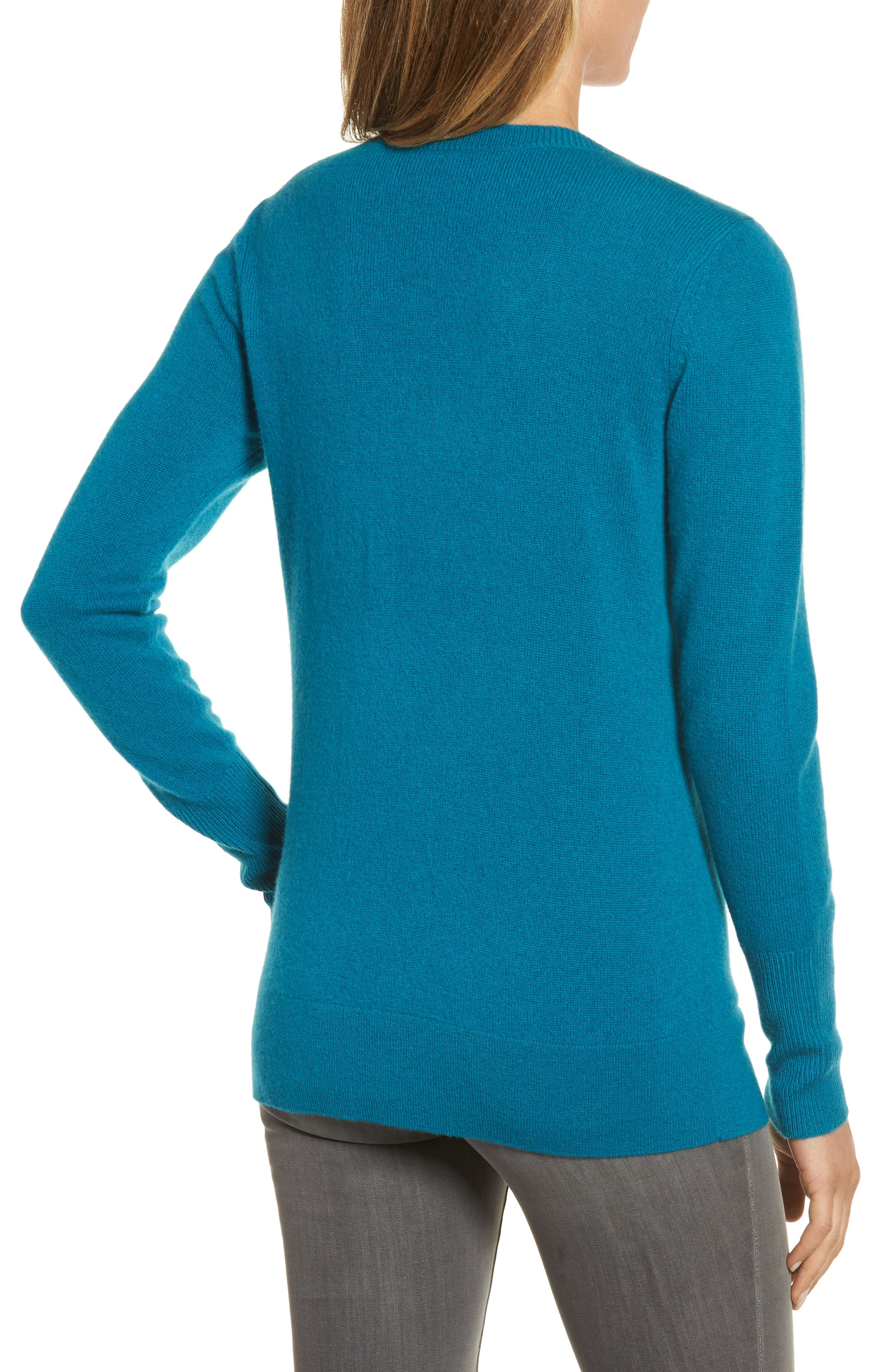 V-Neck Cashmere Sweater,                             Alternate thumbnail 25, color,