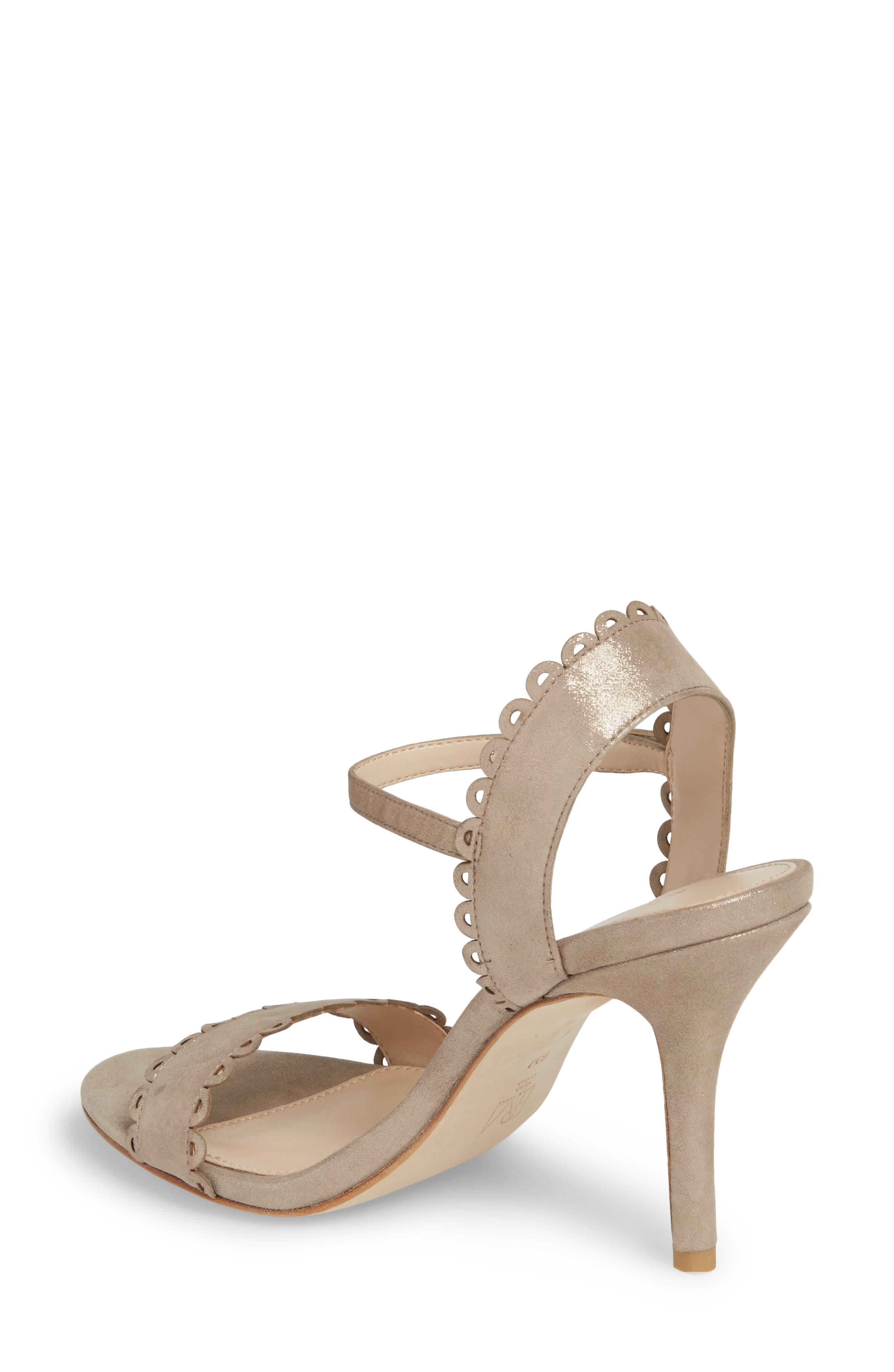 Karen Scallop Ankle Strap Sandal,                             Alternate thumbnail 5, color,
