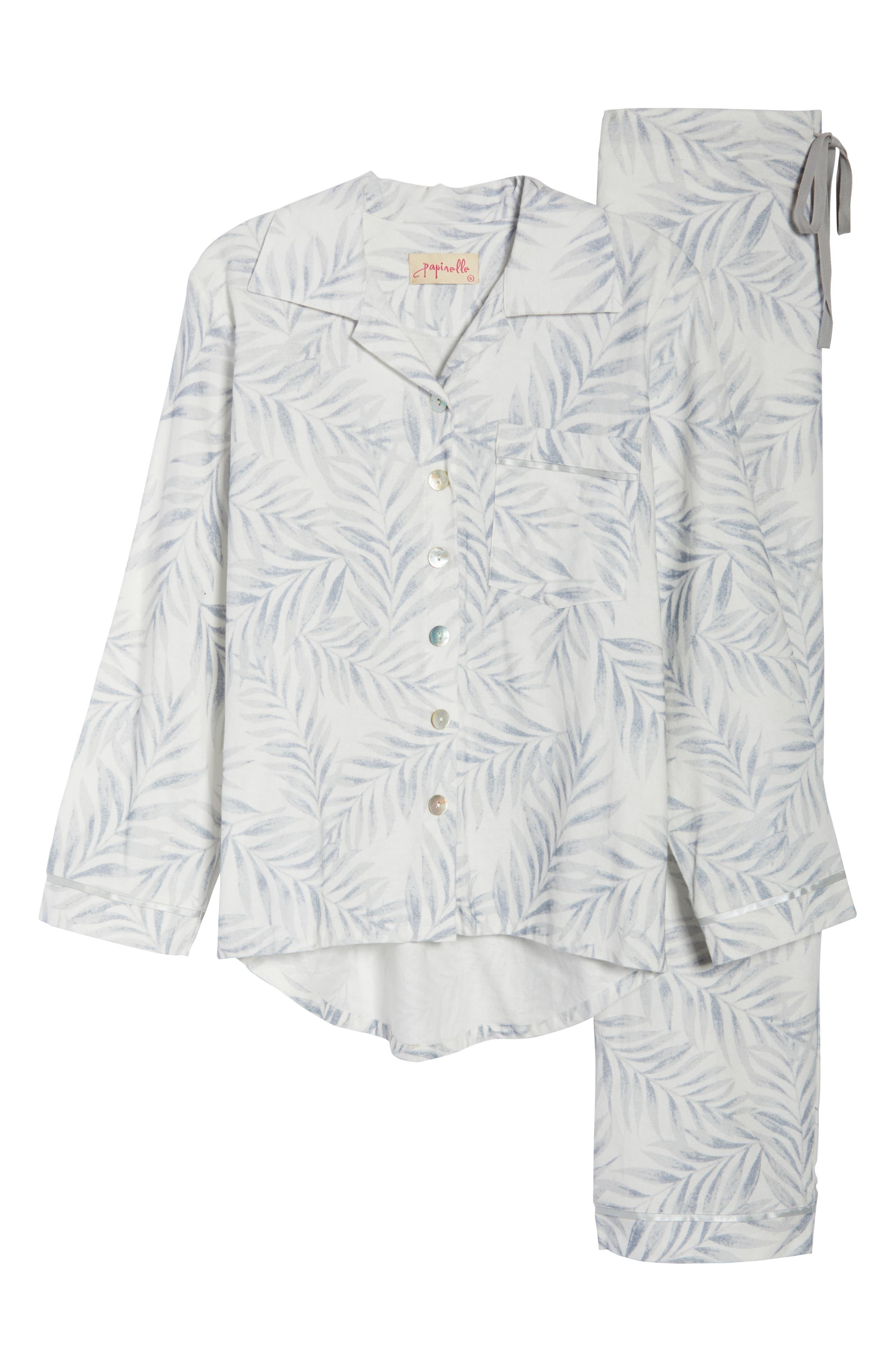 Silver Palms Pajamas,                             Alternate thumbnail 6, color,                             GREY