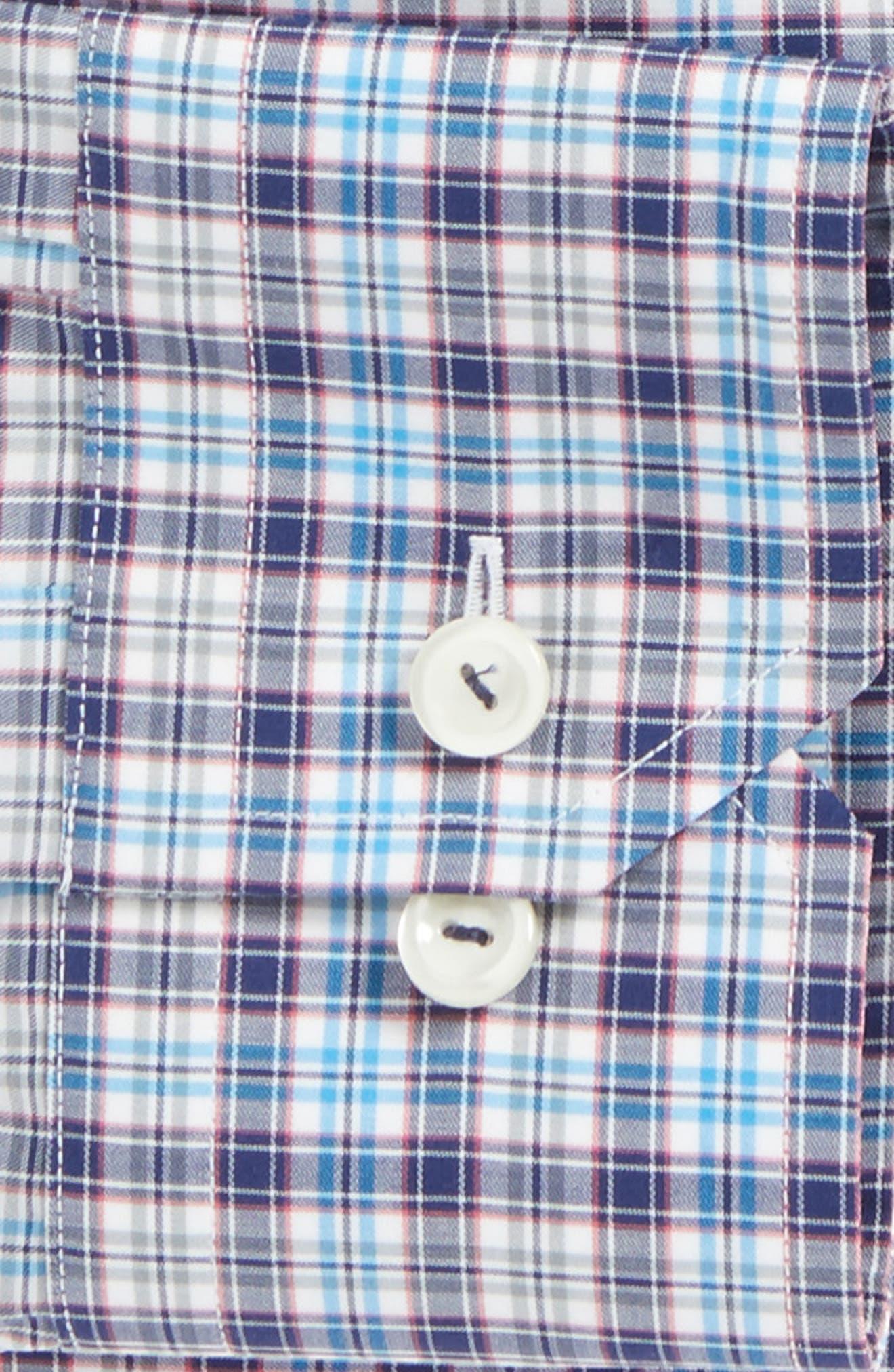 Contemporary Fit Plaid Dress Shirt,                             Alternate thumbnail 3, color,                             400
