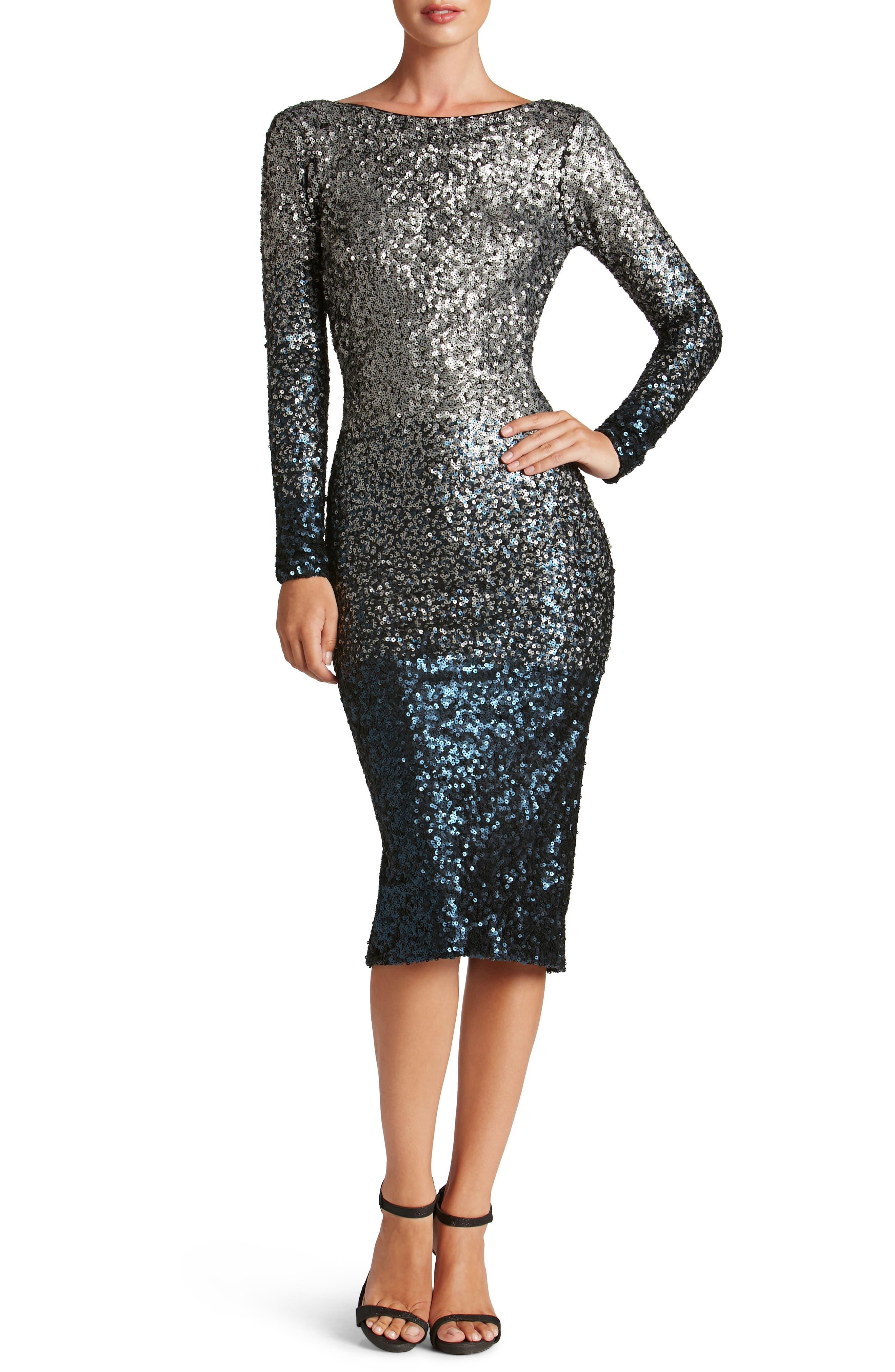 Emery Ombré Sequin Body-Con Dress,                             Main thumbnail 2, color,