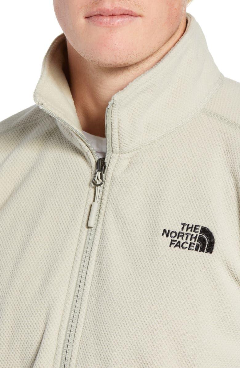 effee9fe6 Shop The North Face Texture Cap Rock Quarter Zip Fleece Jacket In ...