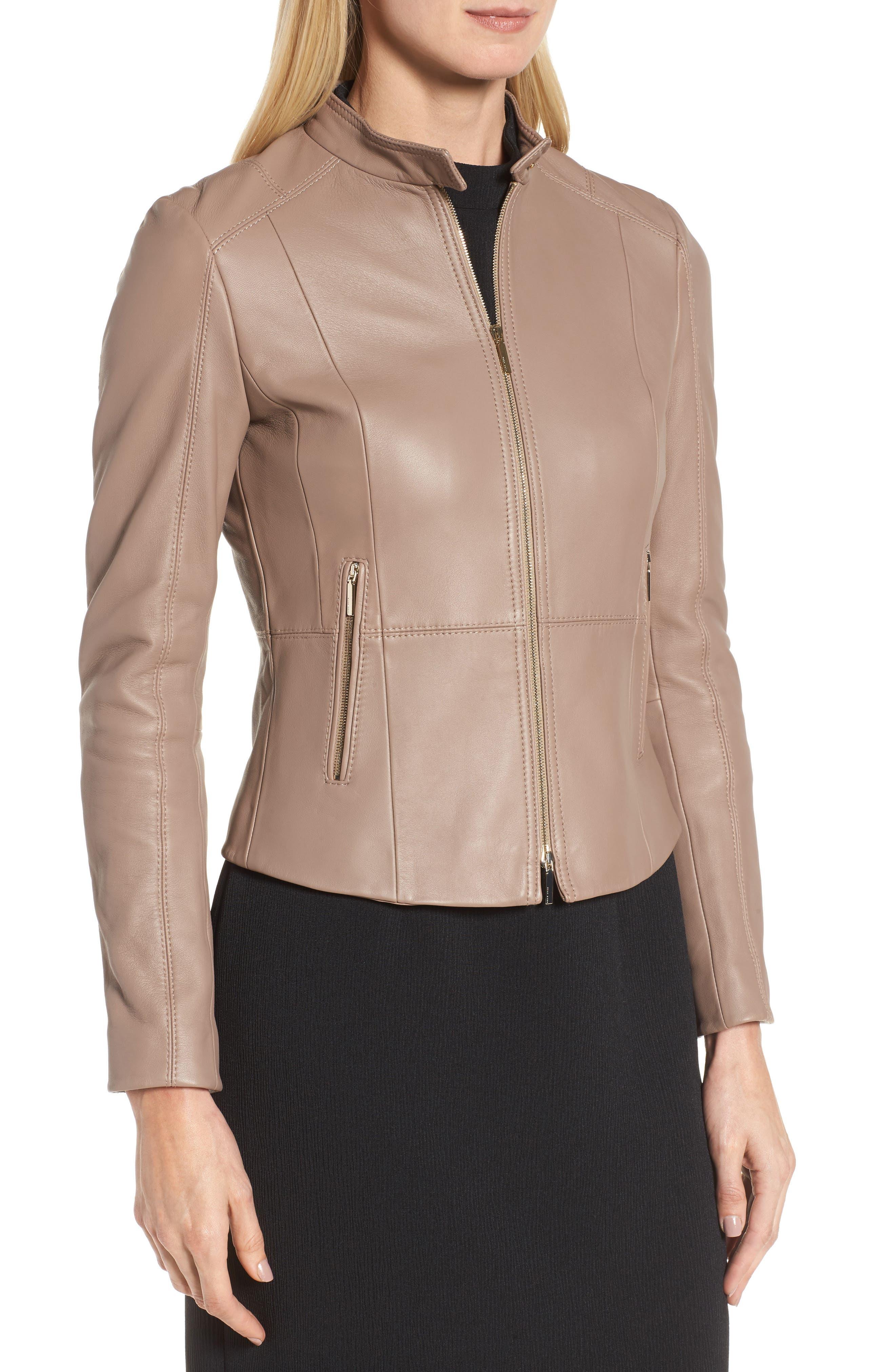 Sammonaie Leather Jacket,                             Alternate thumbnail 7, color,