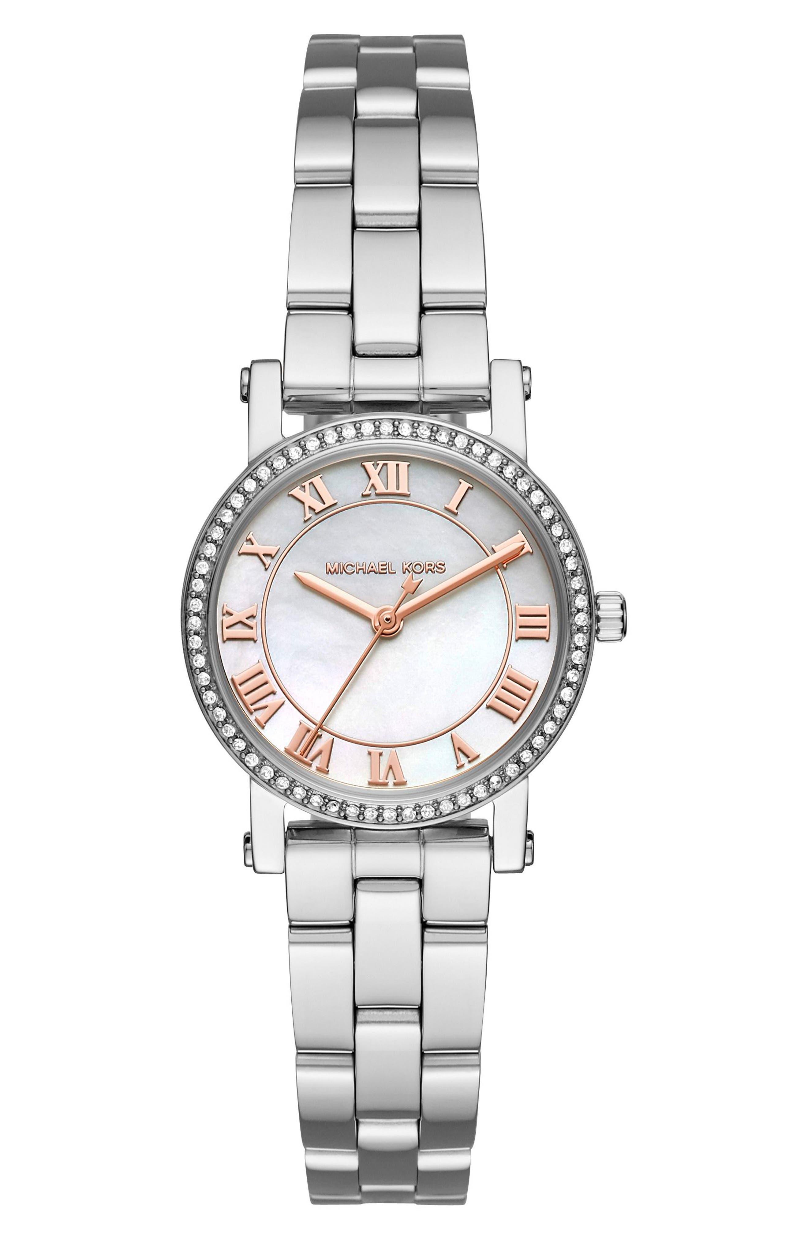 Petite Norie Pavé Bracelet Watch, 28mm,                         Main,                         color,