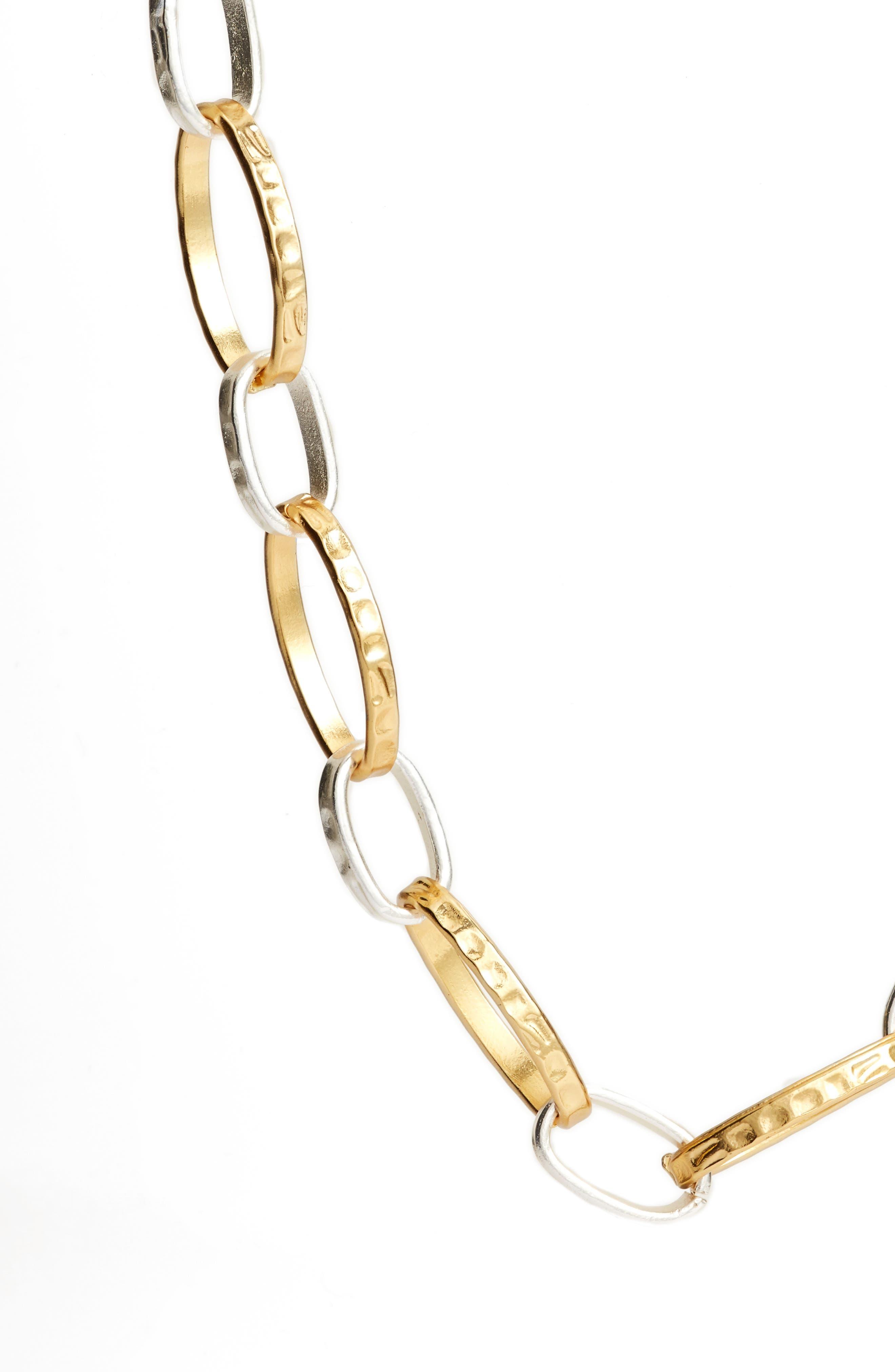 Long Link Necklace,                             Alternate thumbnail 2, color,                             SILVER