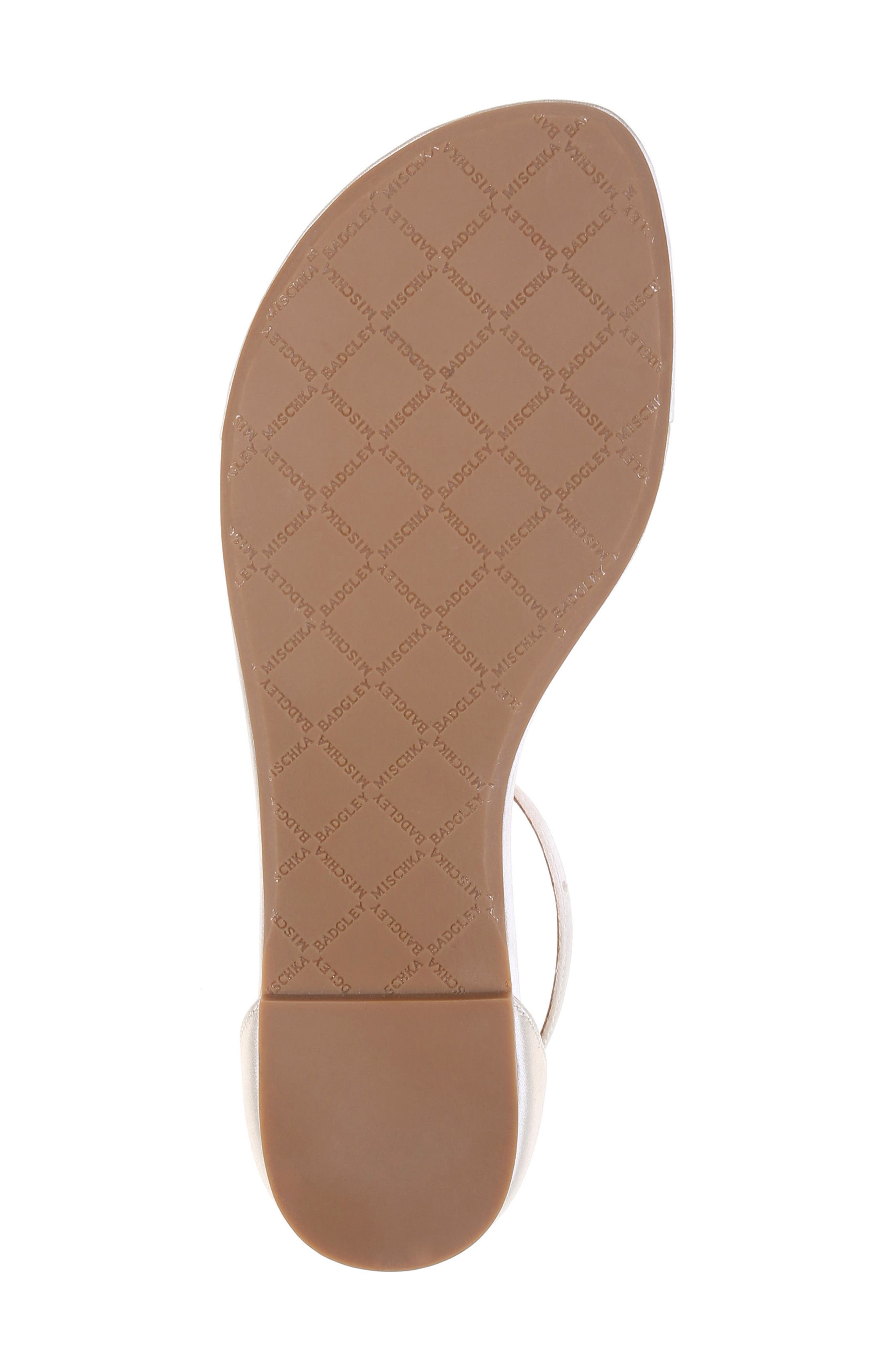 Holbrook T-Strap Sandal,                             Alternate thumbnail 5, color,                             IVORY SATIN