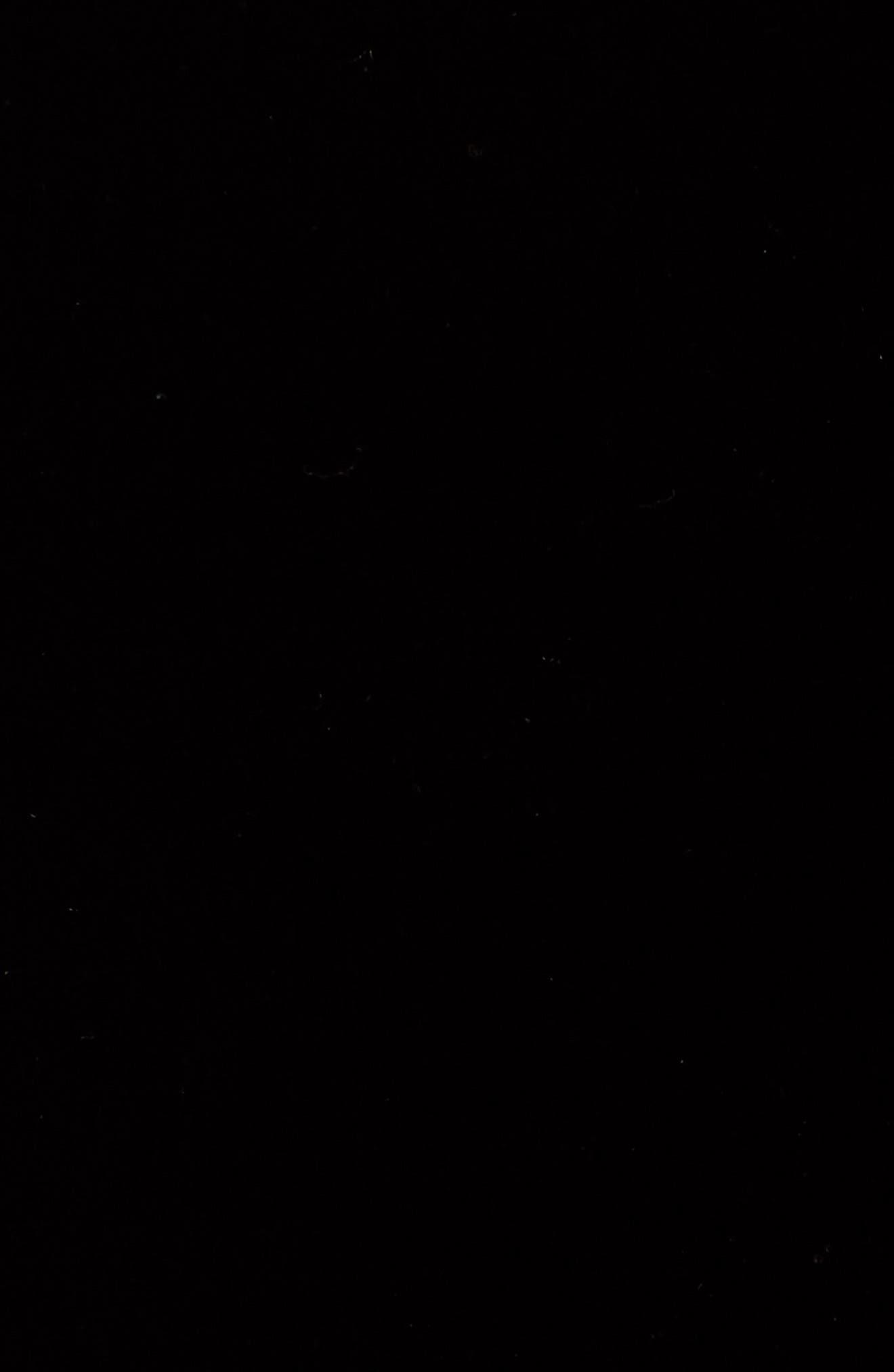 Velvet & Fleece Half Sleeve Top,                             Alternate thumbnail 5, color,                             BLACK