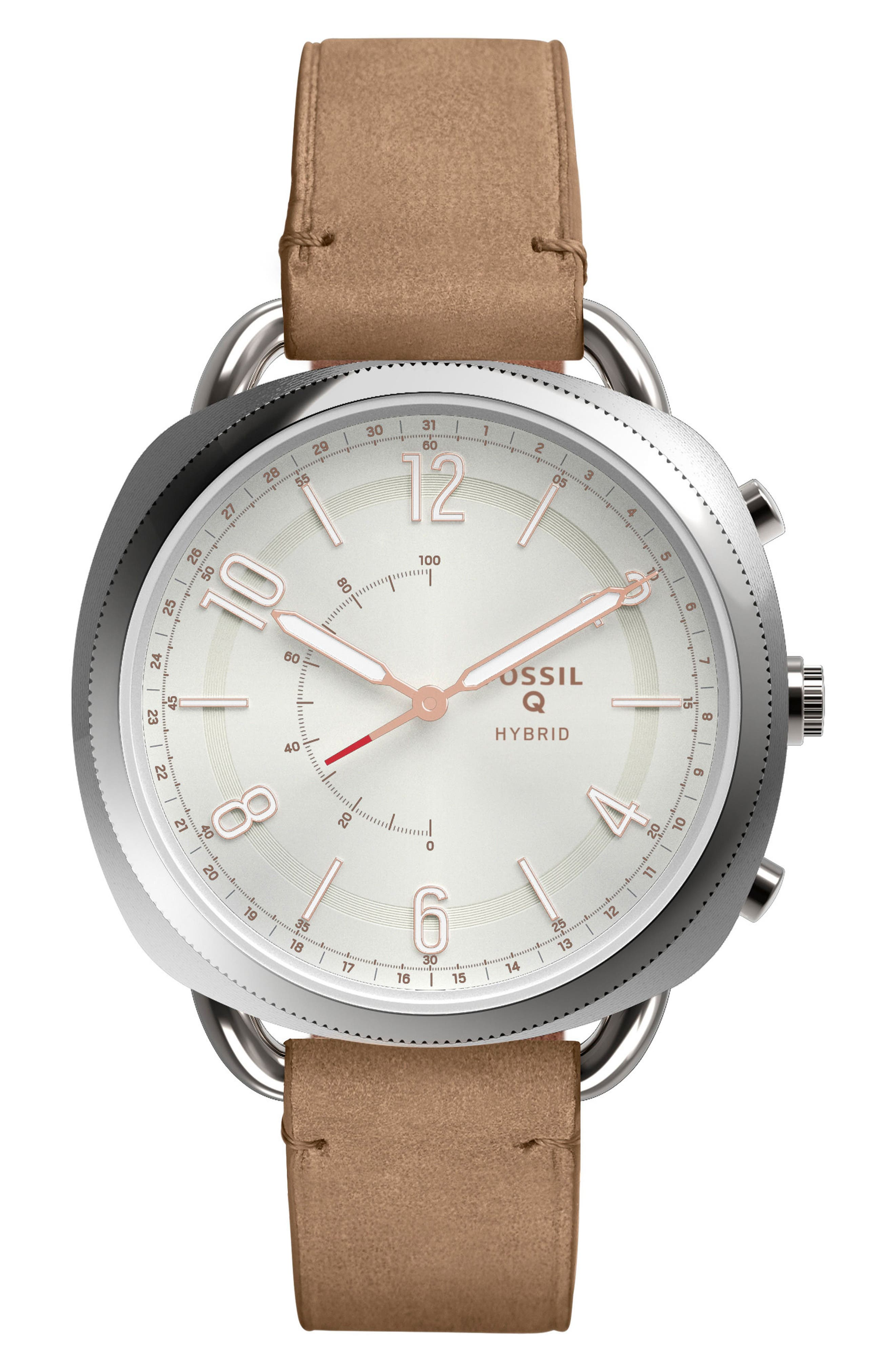 Accomplice Smart Leather Strap Watch, 38mm,                             Main thumbnail 2, color,