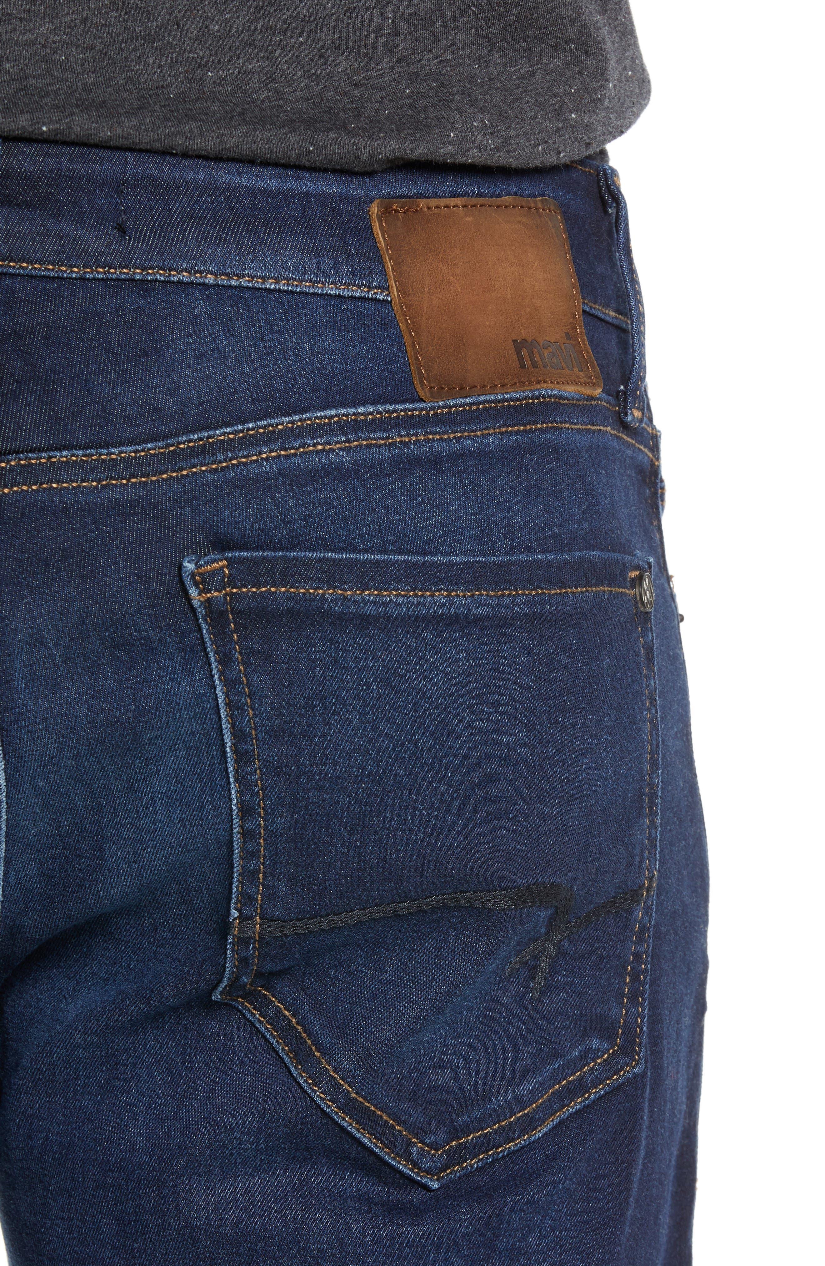 Zach Straight Leg Jeans,                             Alternate thumbnail 4, color,                             DEEP SOFT MOVE
