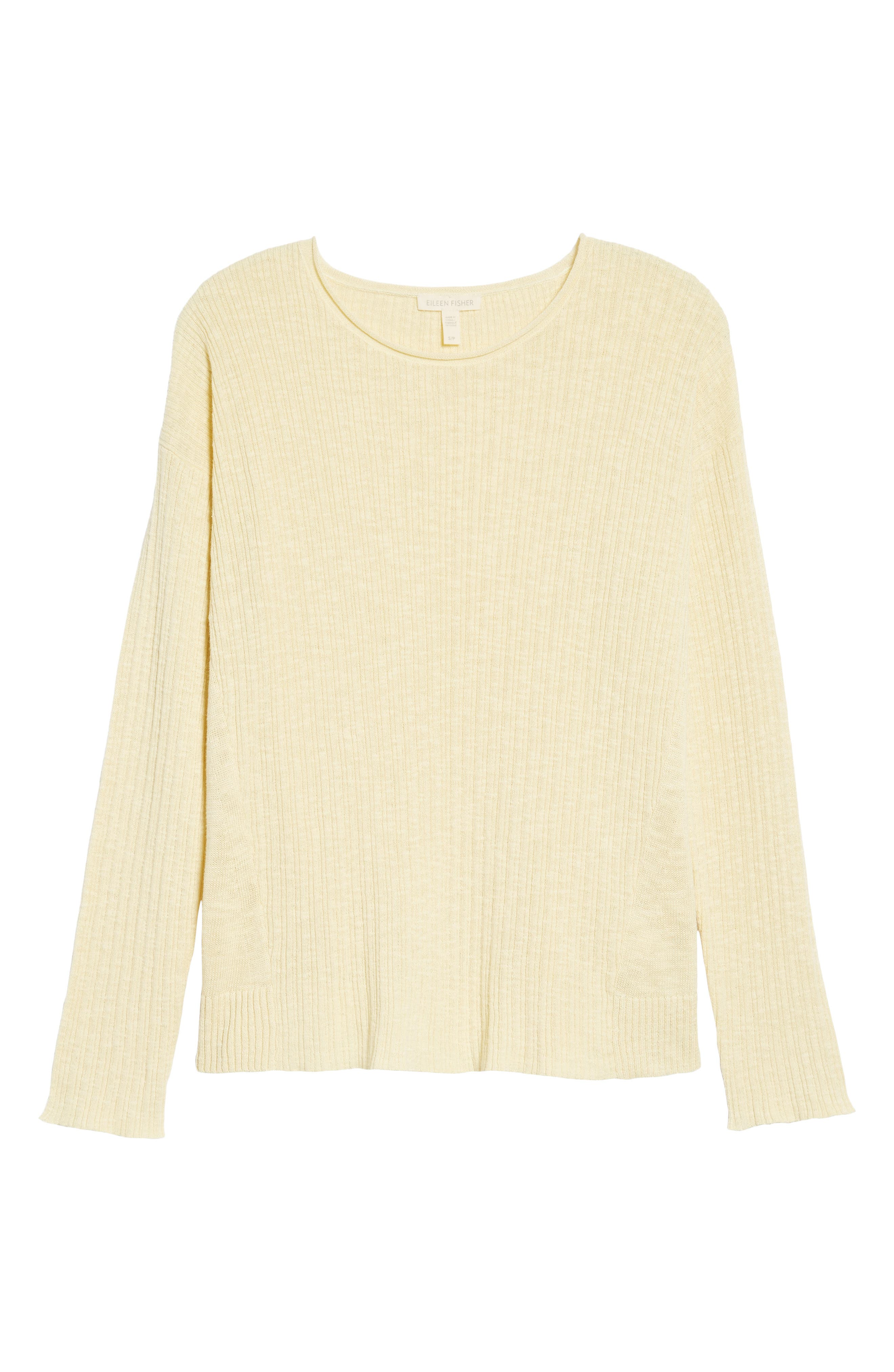 Organic Linen & Cotton Crewneck Sweater,                             Alternate thumbnail 27, color,