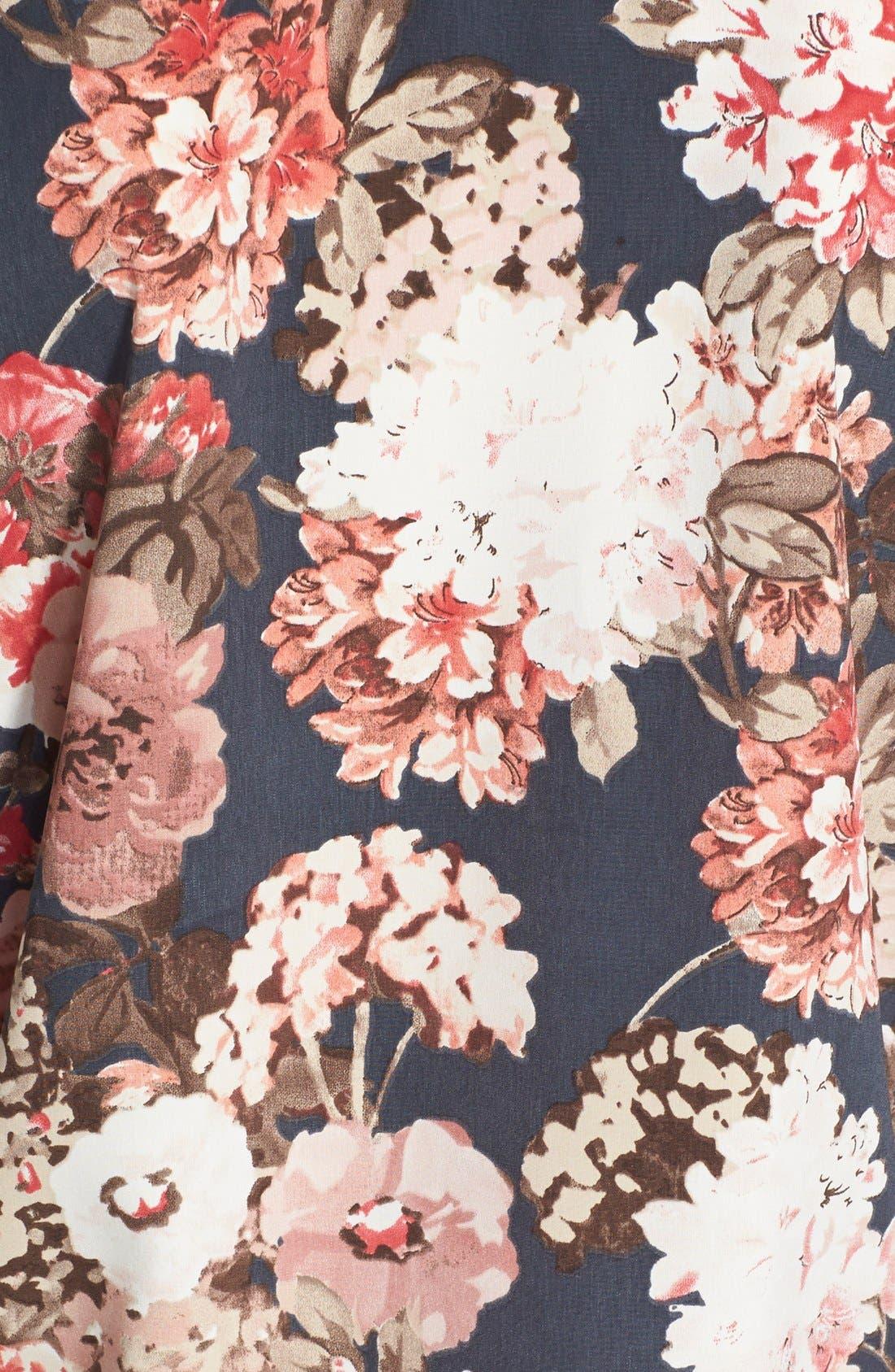Floral Print Raglan Sweatshirt,                             Alternate thumbnail 5, color,                             020