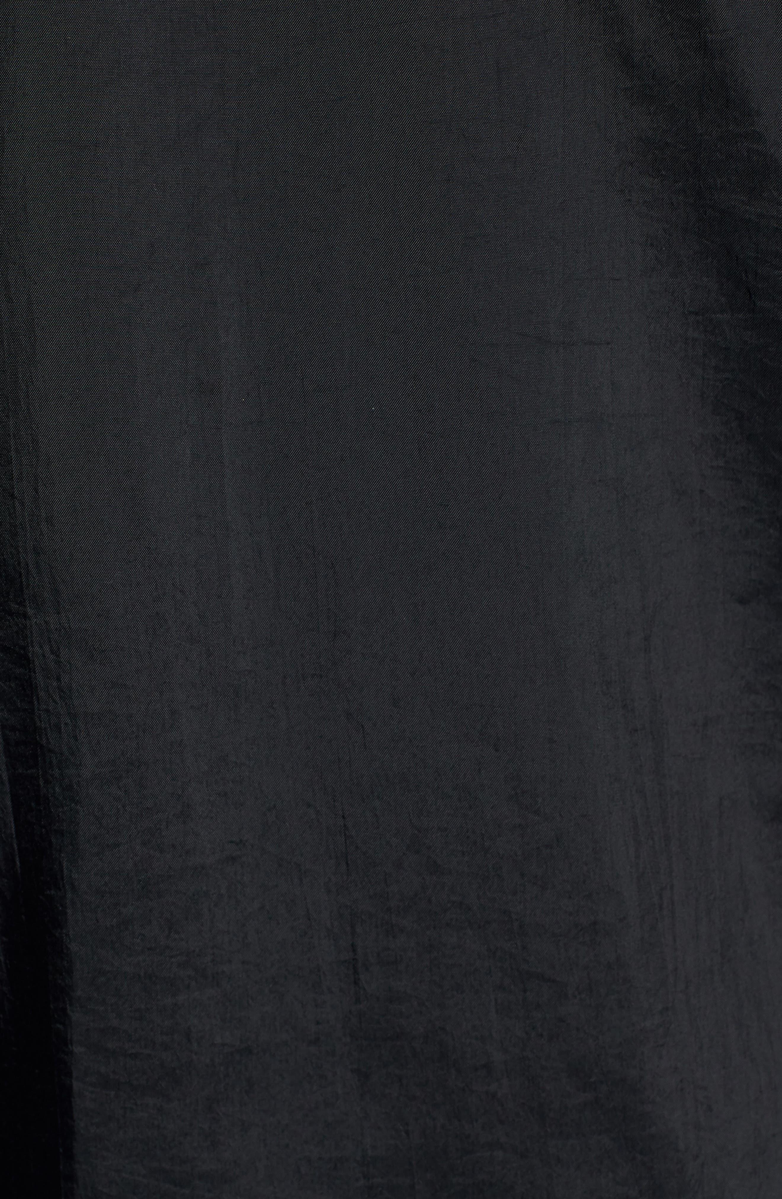 Half Zip Hooded Pullover,                             Alternate thumbnail 6, color,                             BLACK