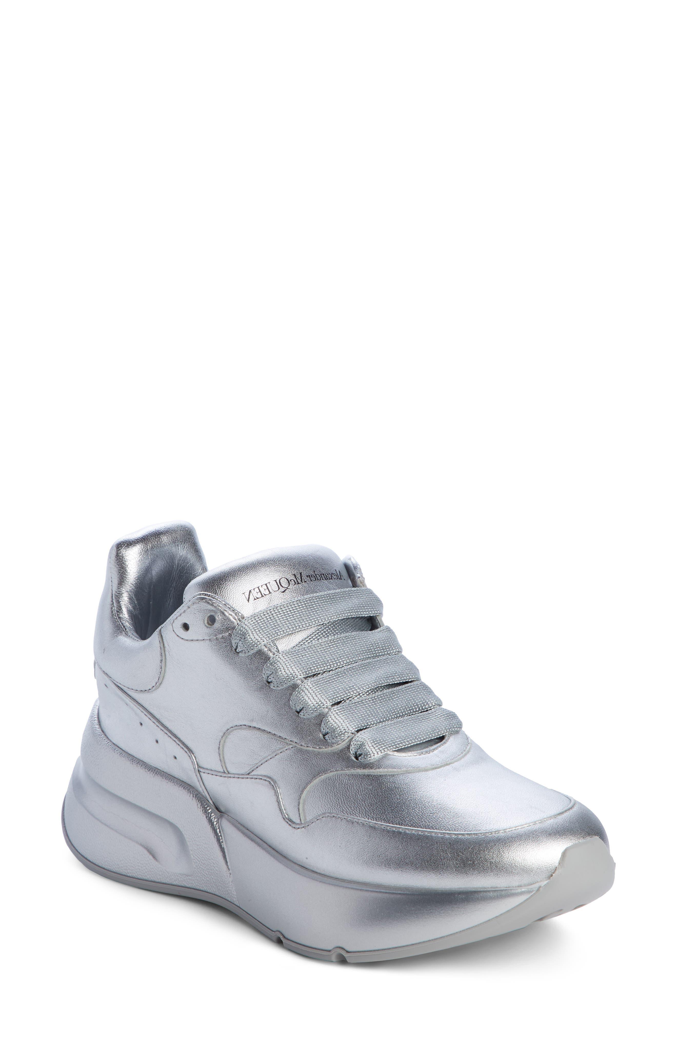 Alexander Mcqueen Platform Sneaker, Metallic