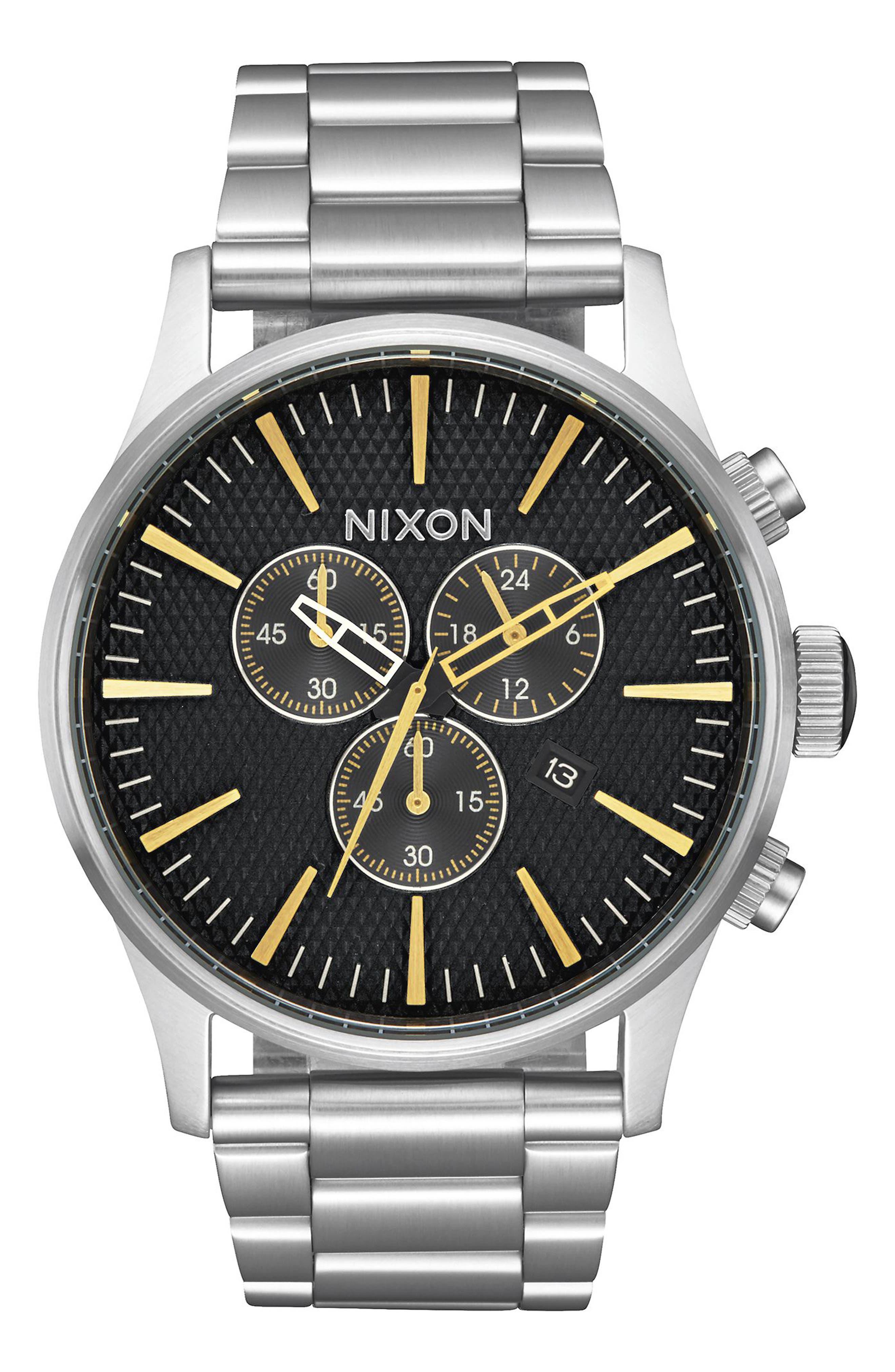 'The Sentry' Chronograph Bracelet Watch, 42mm,                             Main thumbnail 7, color,