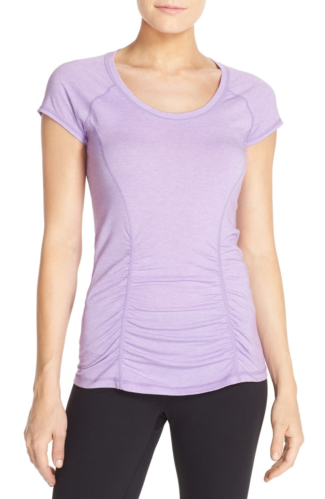 'Z 6' Ruched Tee,                             Main thumbnail 16, color,