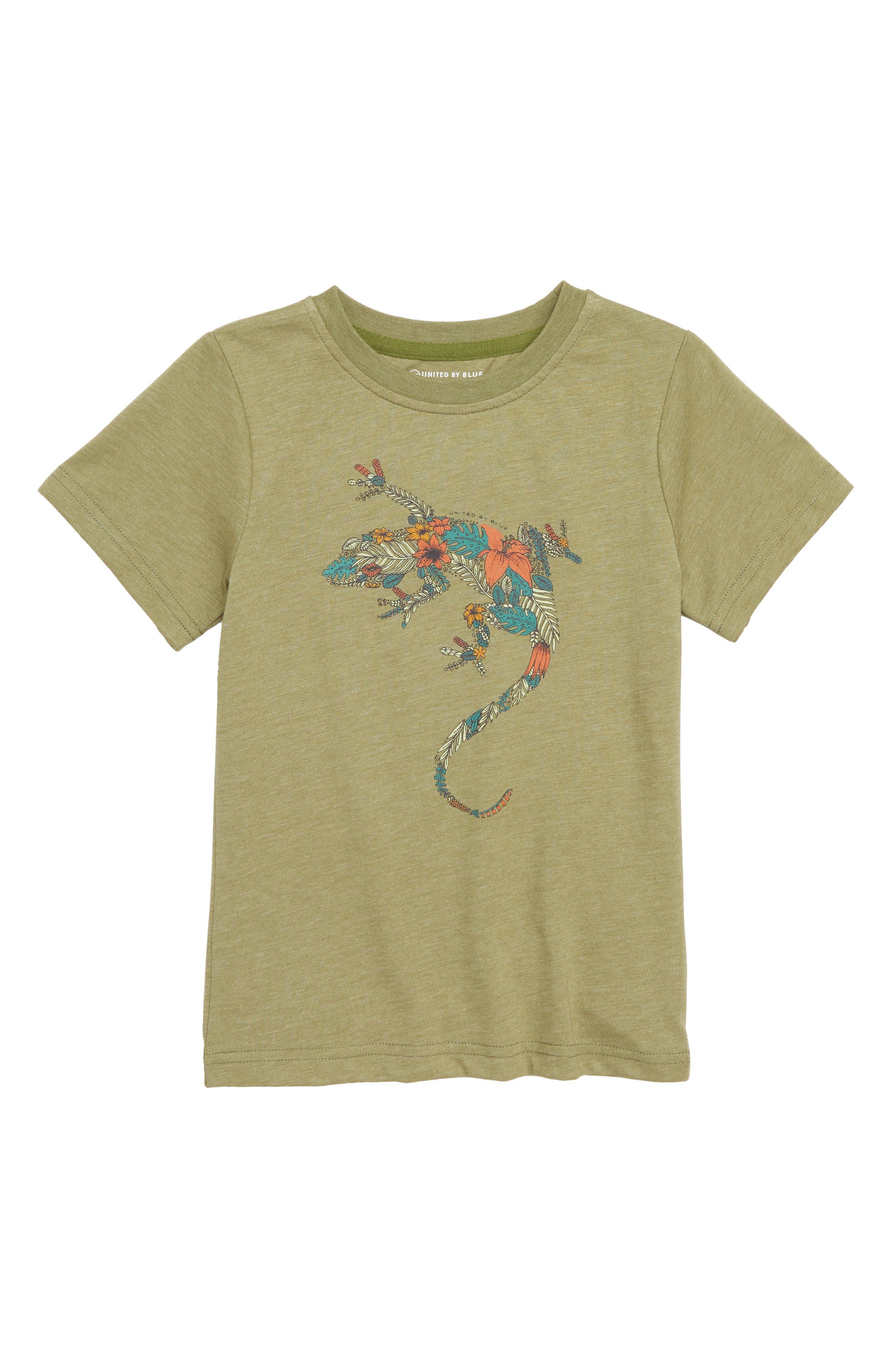 Wild Gecko T-Shirt,                             Main thumbnail 1, color,                             OLIVE