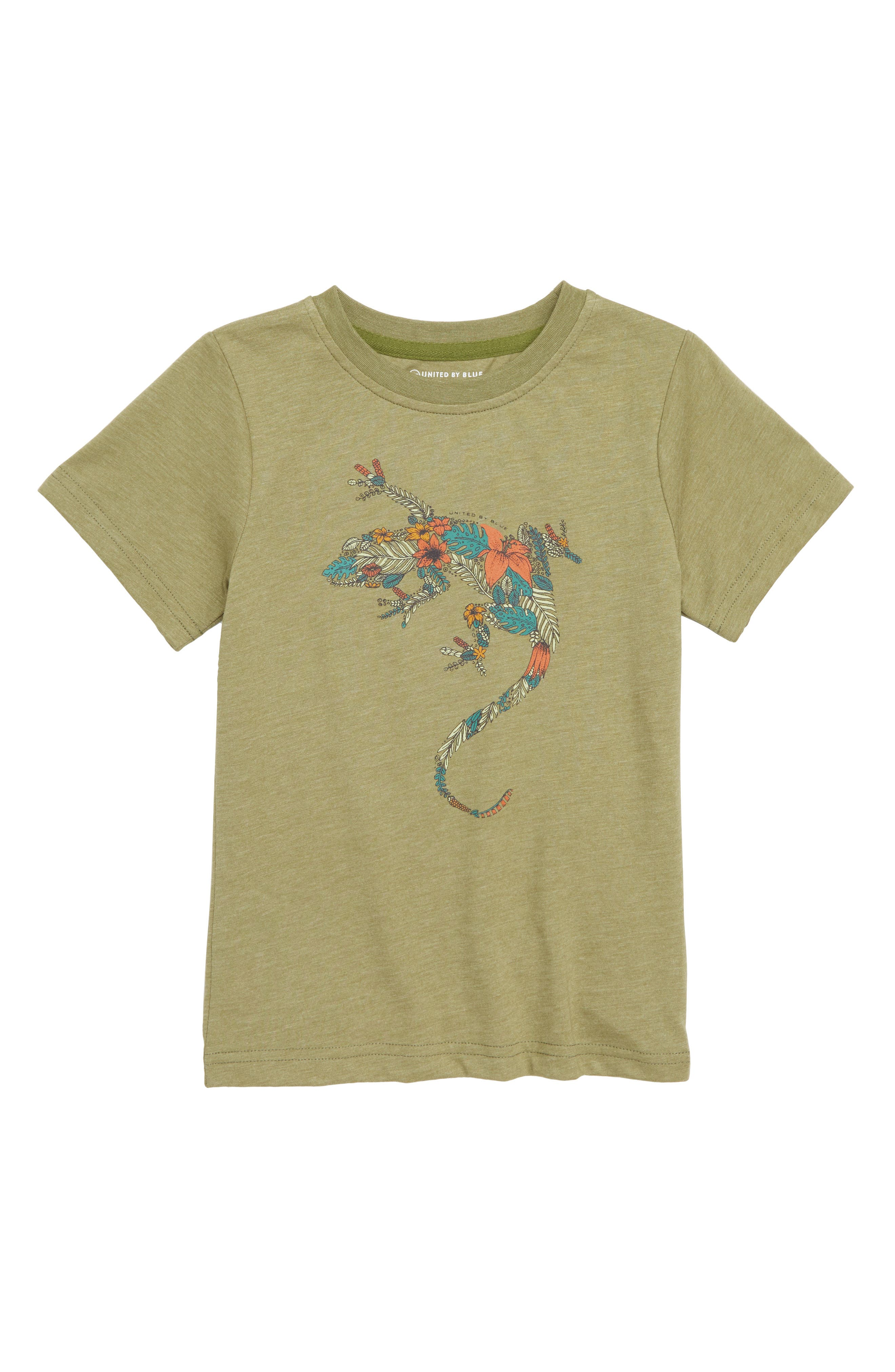 Wild Gecko T-Shirt,                         Main,                         color, OLIVE
