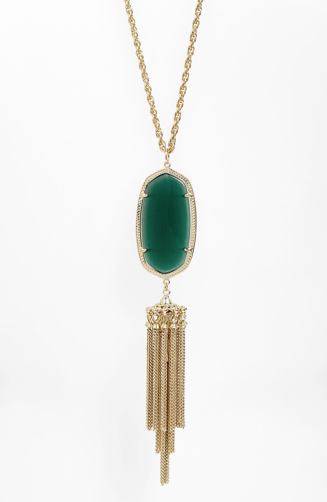 Rayne Stone Tassel Pendant Necklace,                             Alternate thumbnail 86, color,