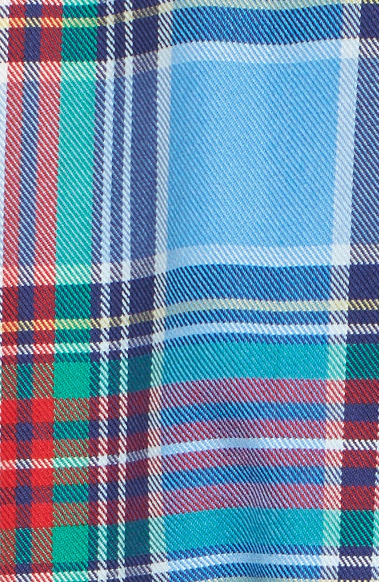 Tucker Belmont Classic Fit Plaid Sport Shirt,                             Alternate thumbnail 5, color,                             447