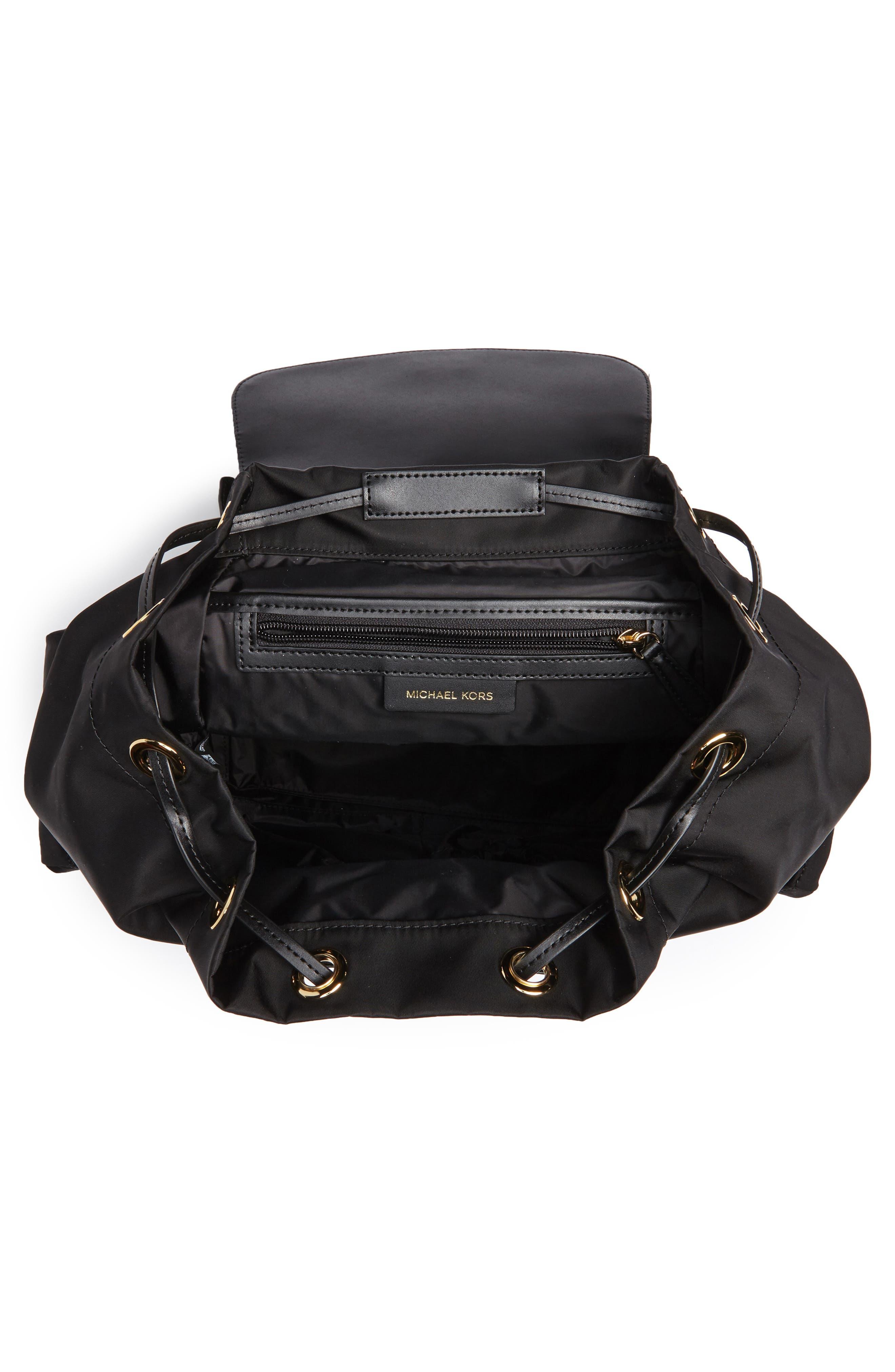 Large Nylon Diaper Backpack,                             Alternate thumbnail 4, color,                             001