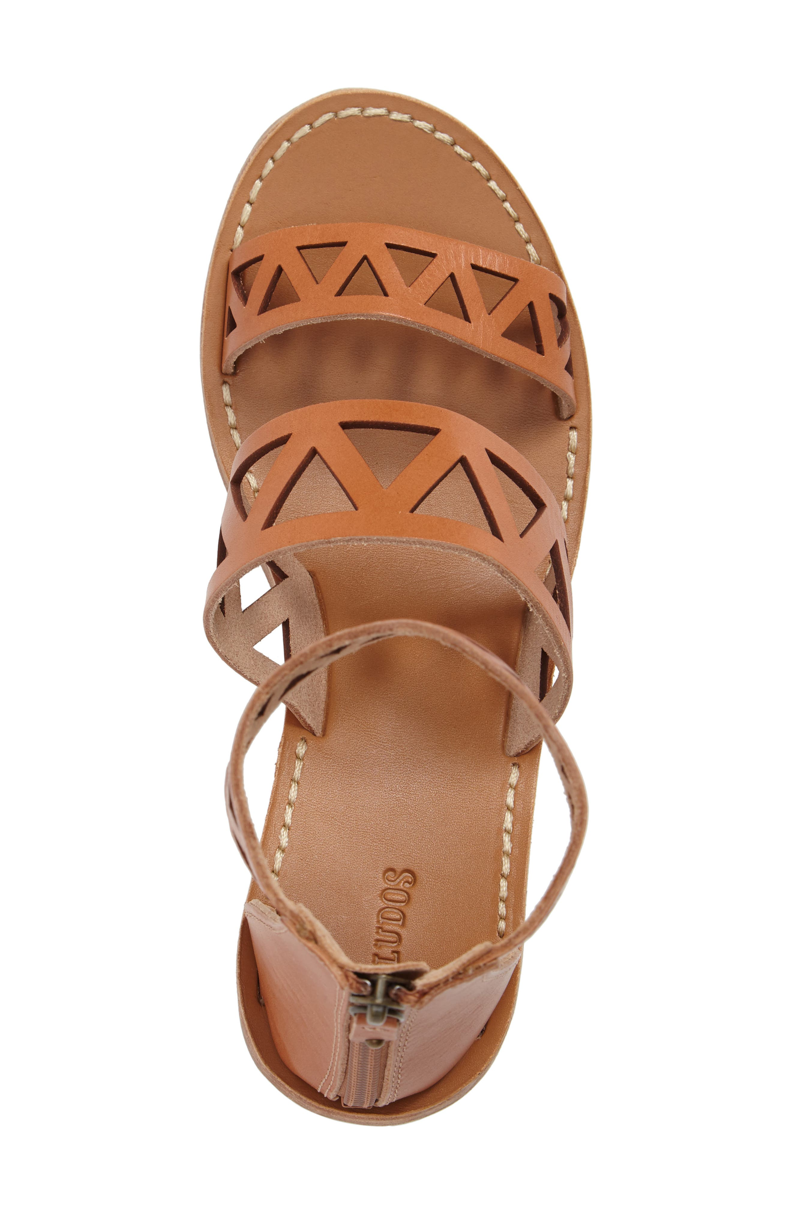 Perforated Ankle Strap Sandal,                             Alternate thumbnail 5, color,                             200