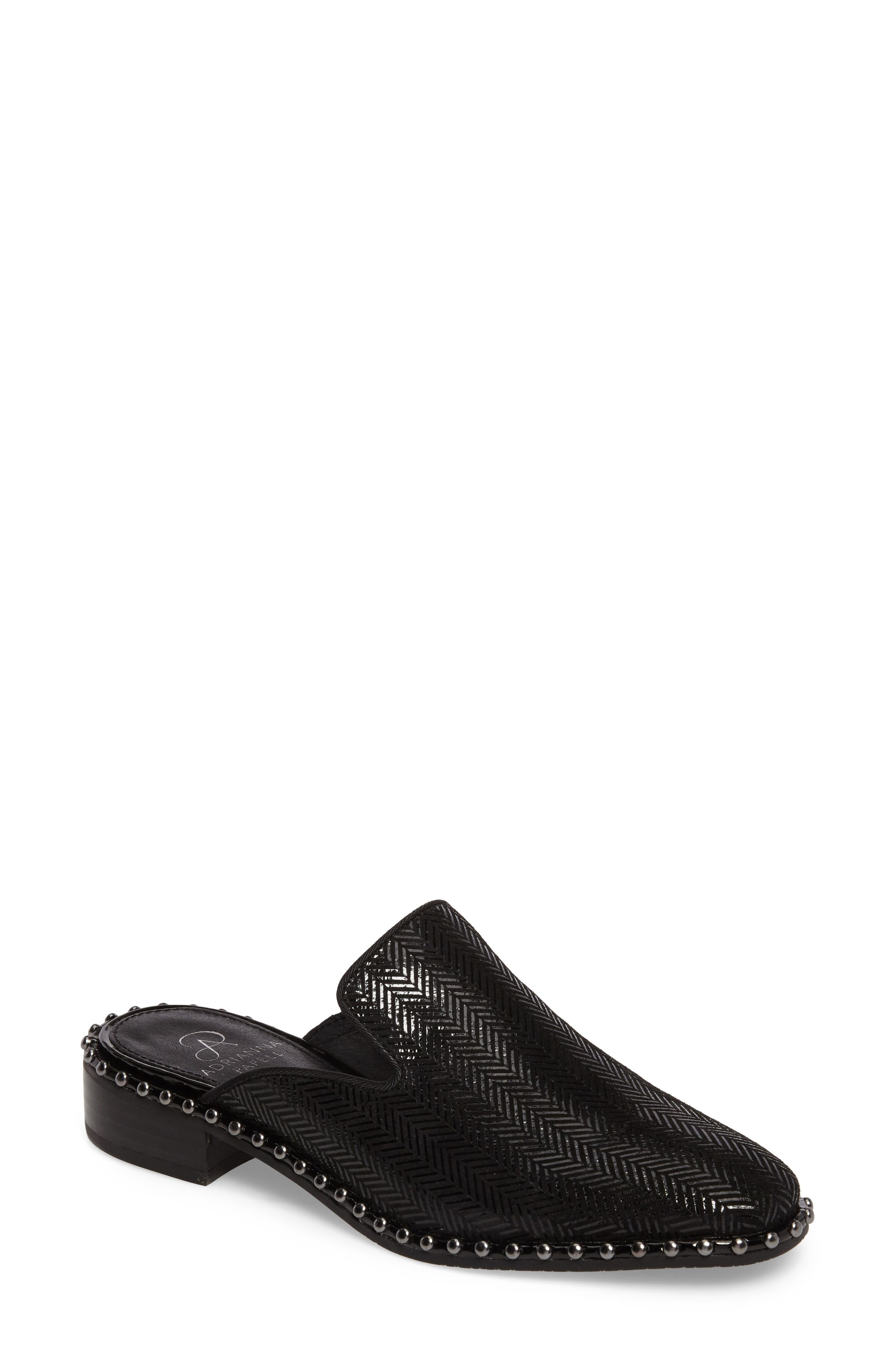 'Pam' Studded Mule,                         Main,                         color, 011