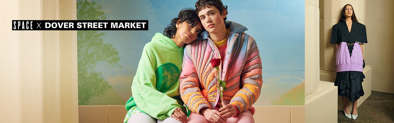 Nordstrom SPACE x Dover Street Market: woman and man wearing ERL, woman wearing Youths in Balaclava.