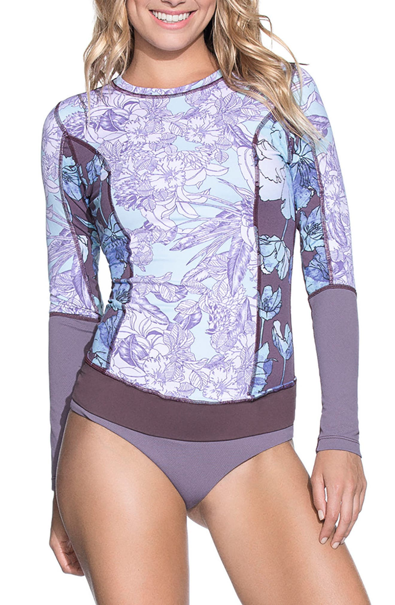 Deep Blue Diver Rashguard,                             Main thumbnail 1, color,