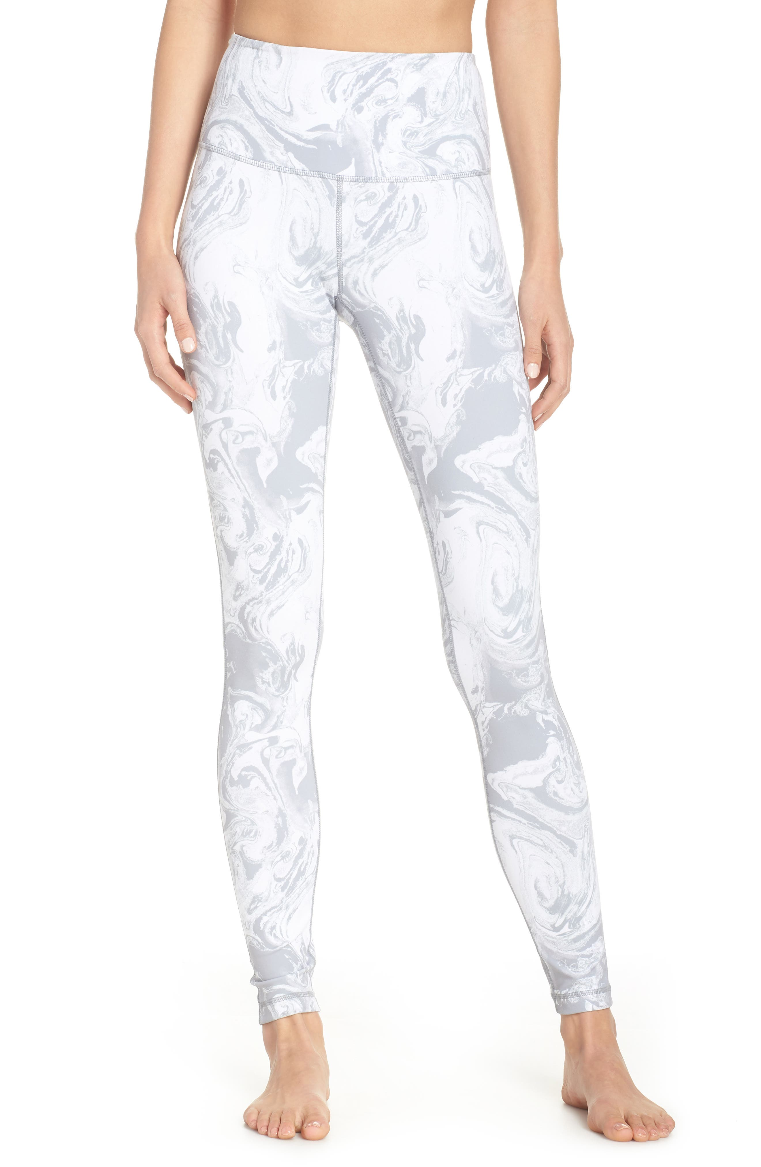 Live In High Waist Leggings,                         Main,                         color, GREY SCONCE PRETTY MARBLE