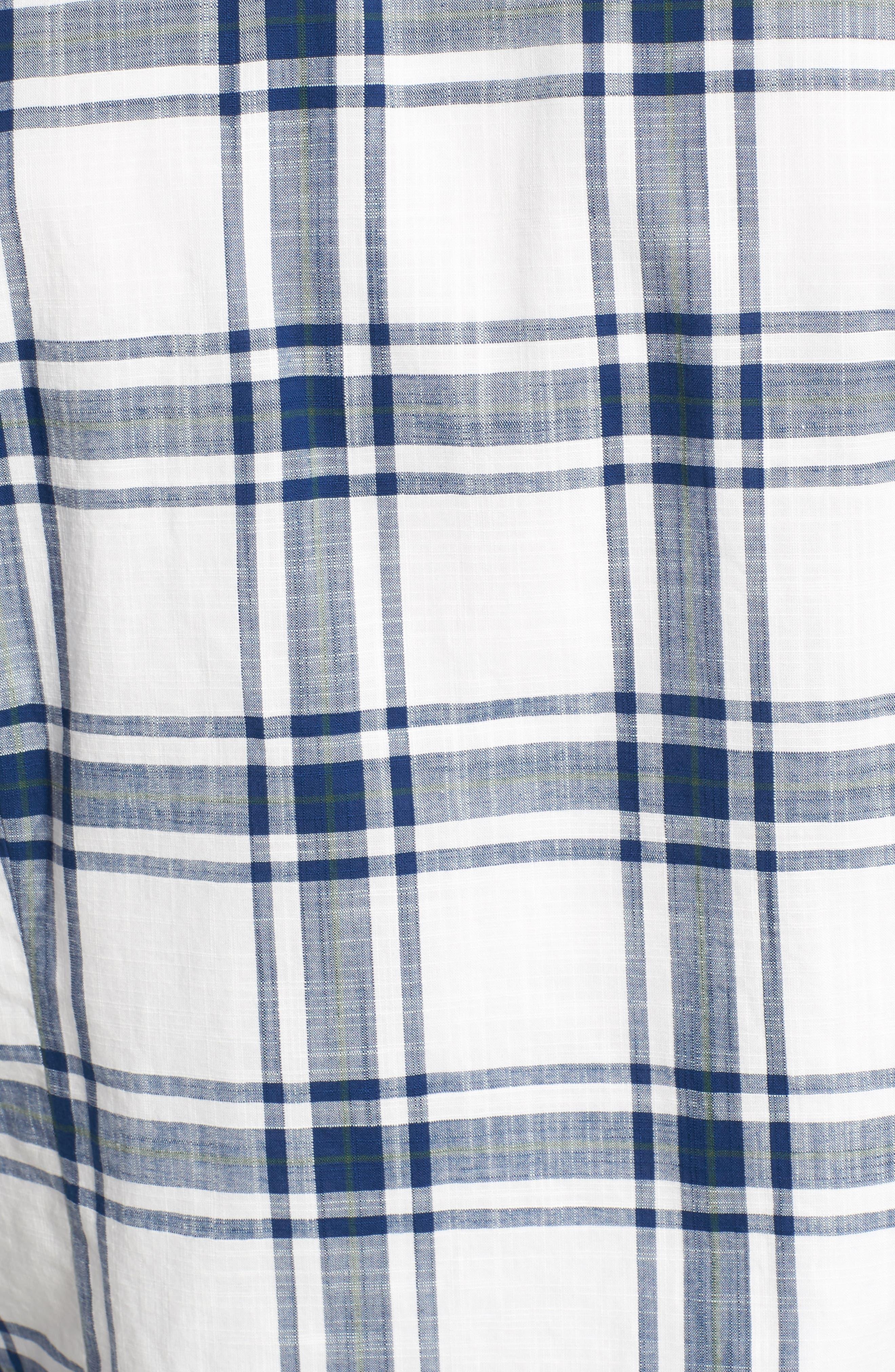 Elver Tailored Fit Plaid Sport Shirt,                             Alternate thumbnail 5, color,                             330