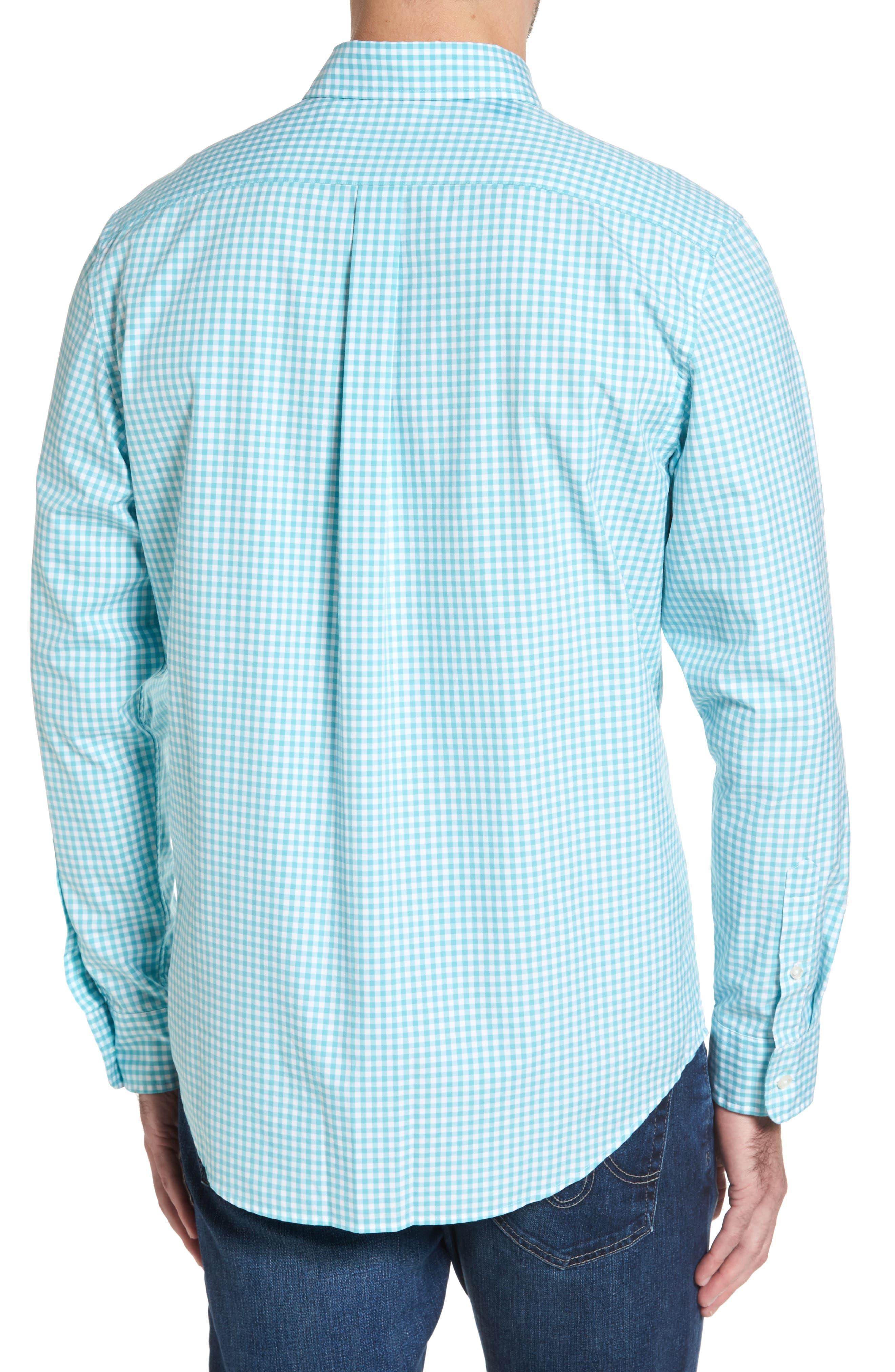 VINEYARD VINES,                             Seafloor Tucker Gingham Sport Shirt,                             Alternate thumbnail 2, color,                             302