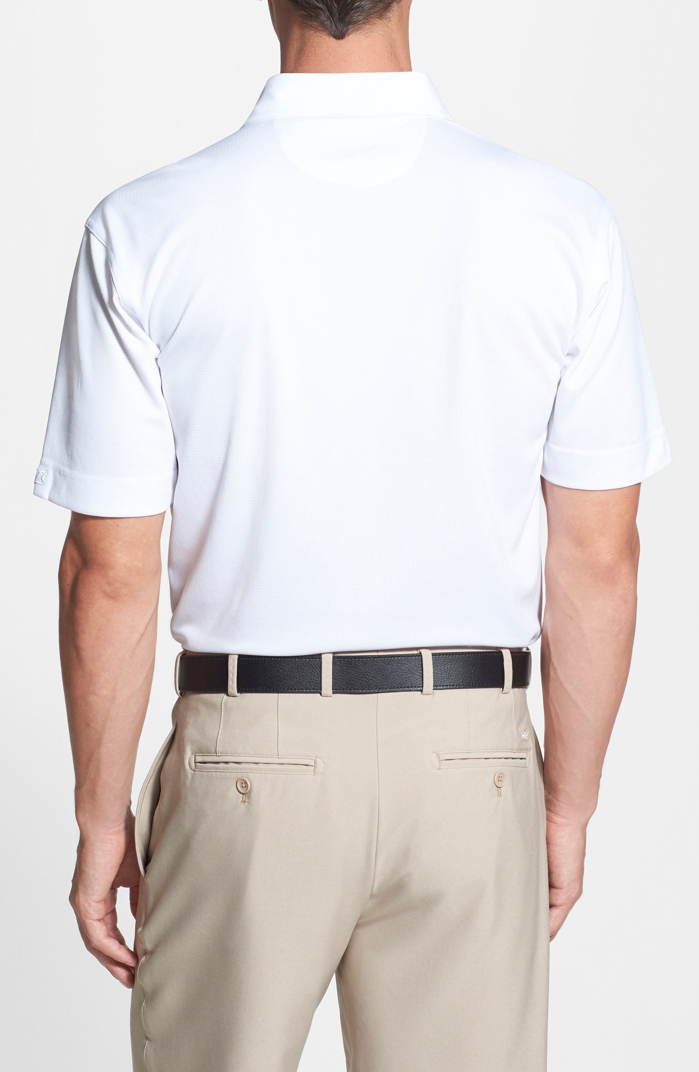 'New England Patriots - Genre' DryTec Moisture Wicking Polo,                             Alternate thumbnail 3, color,                             100