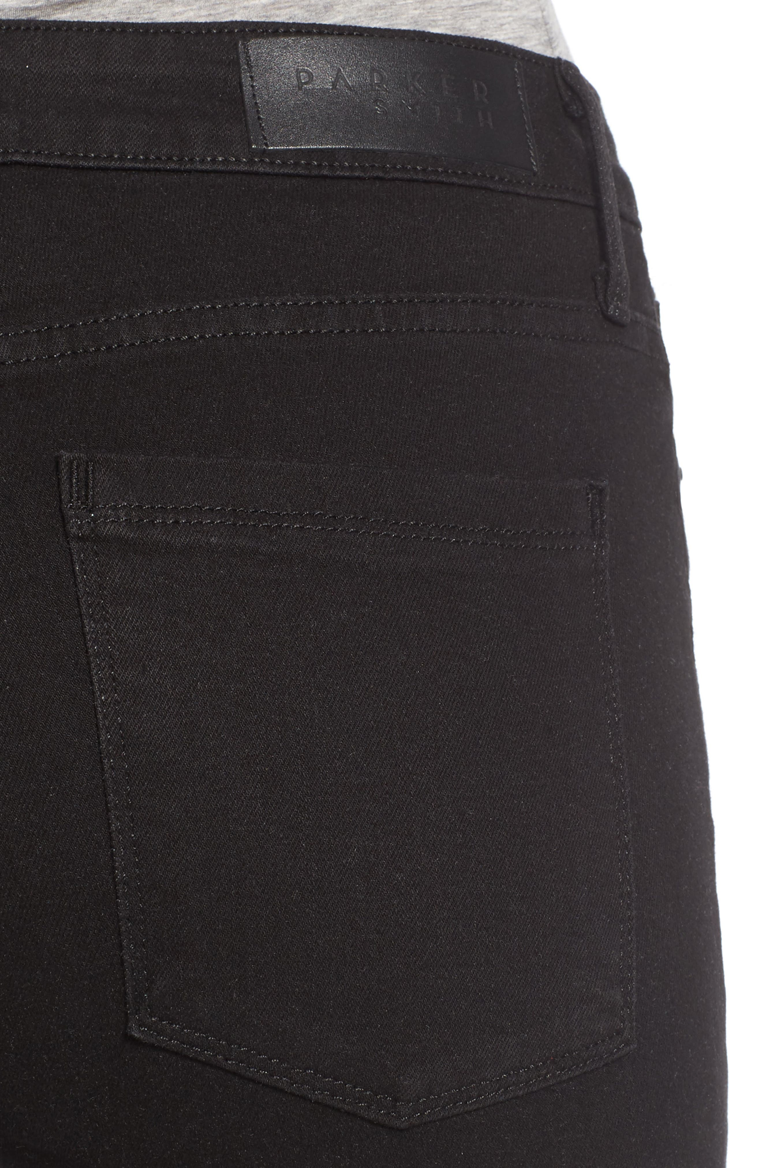 Bombshell High Waist Stretch Skinny Jeans,                             Alternate thumbnail 4, color,                             001