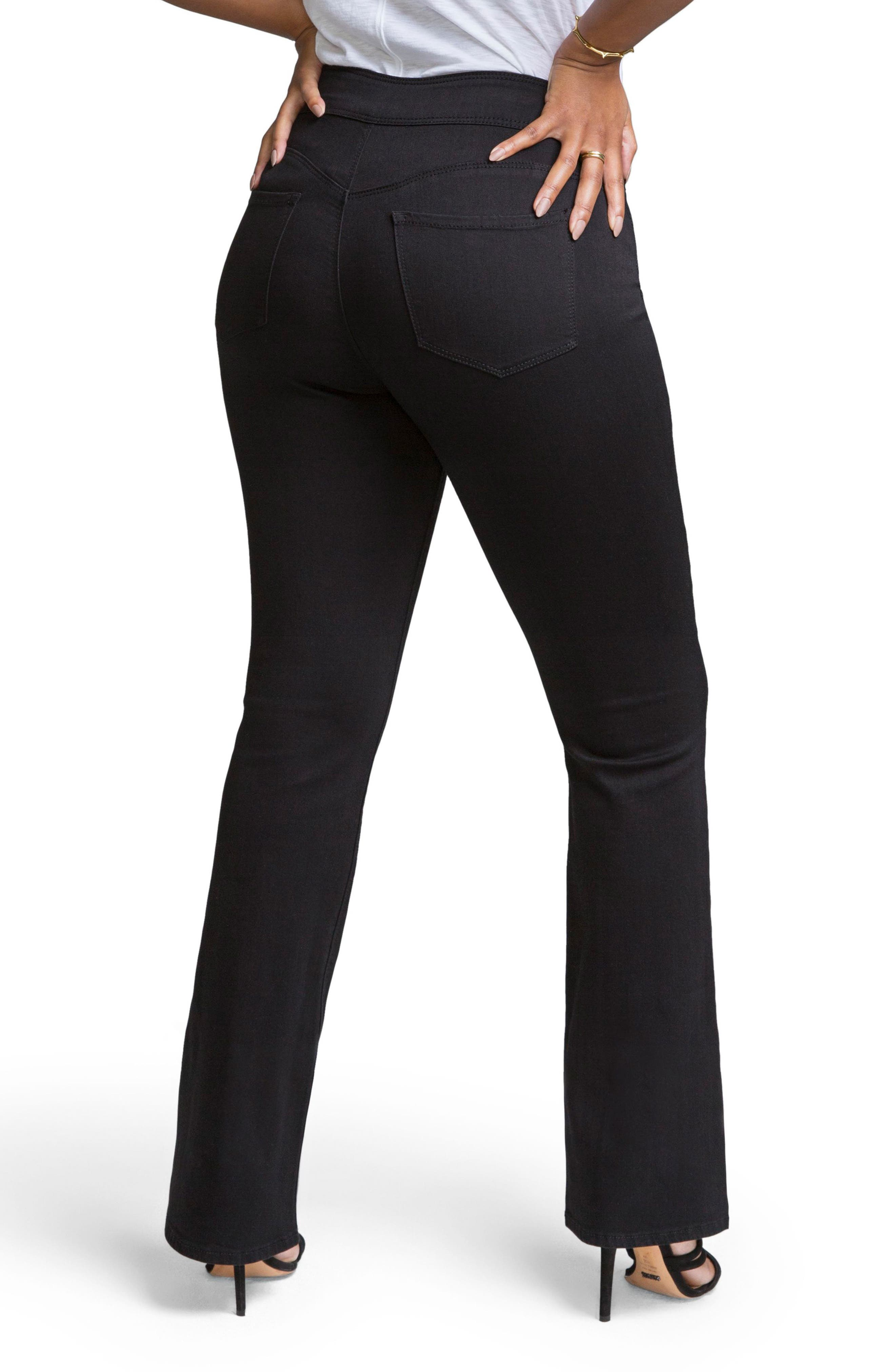 Pull-On Skinny Bootcut Jeans,                             Alternate thumbnail 2, color,                             NUIT