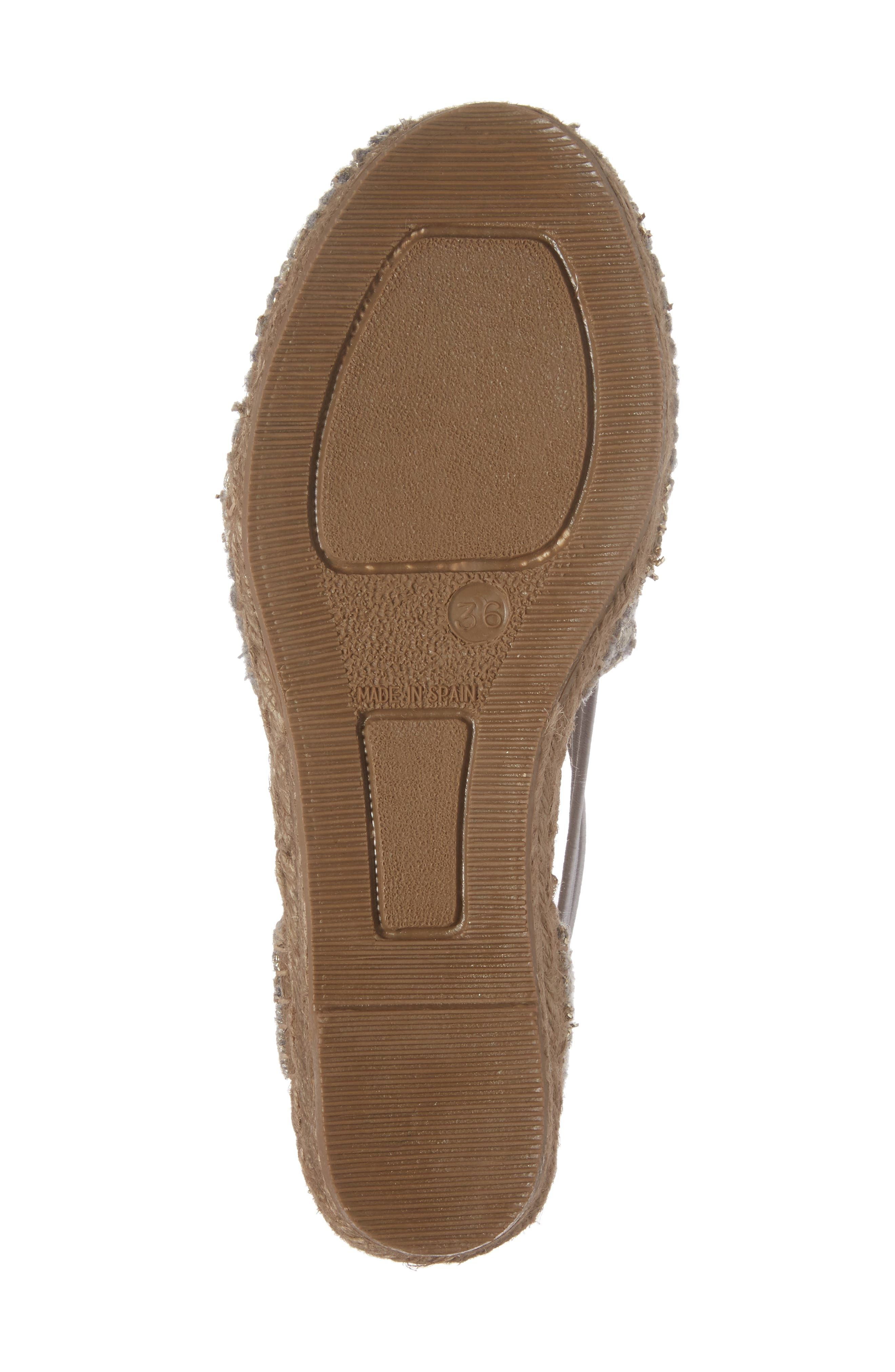 Metz Embroidered Espadrille Wedge,                             Alternate thumbnail 6, color,                             020