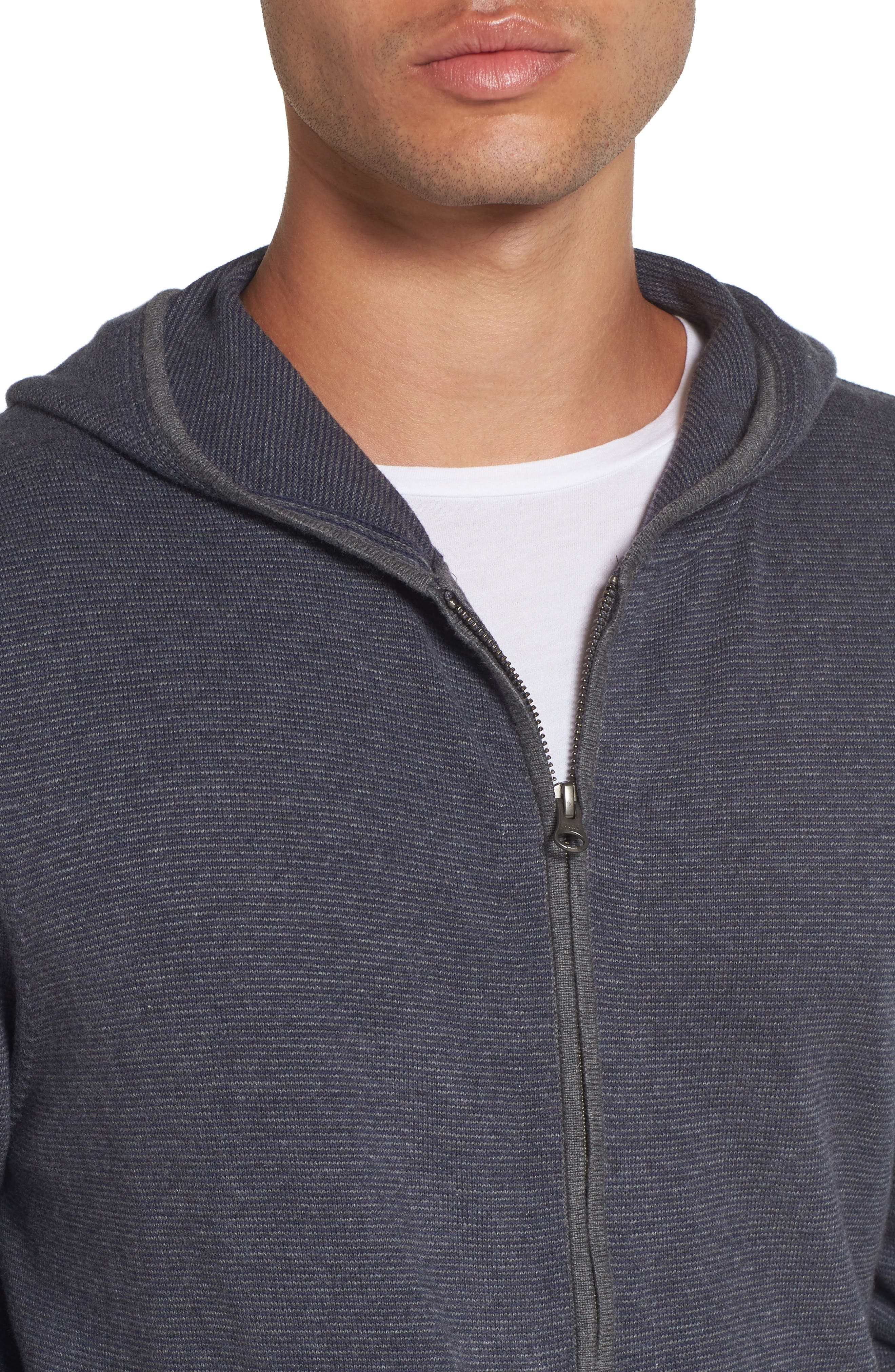 Zip Front Hooded Sweater,                             Alternate thumbnail 11, color,