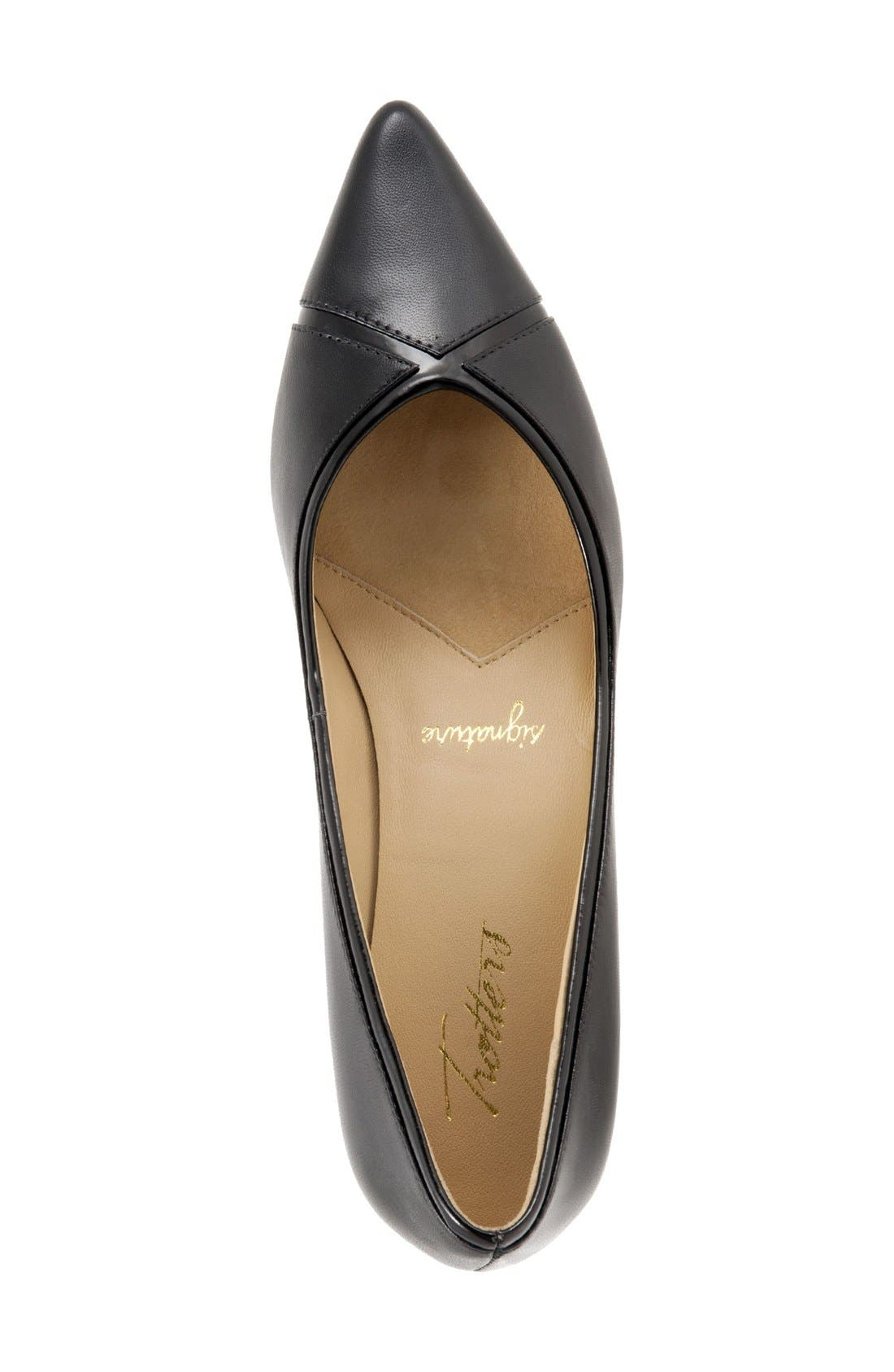 'Kelsey' Pointy Toe Pump,                             Alternate thumbnail 3, color,                             BLACK/ BLACK