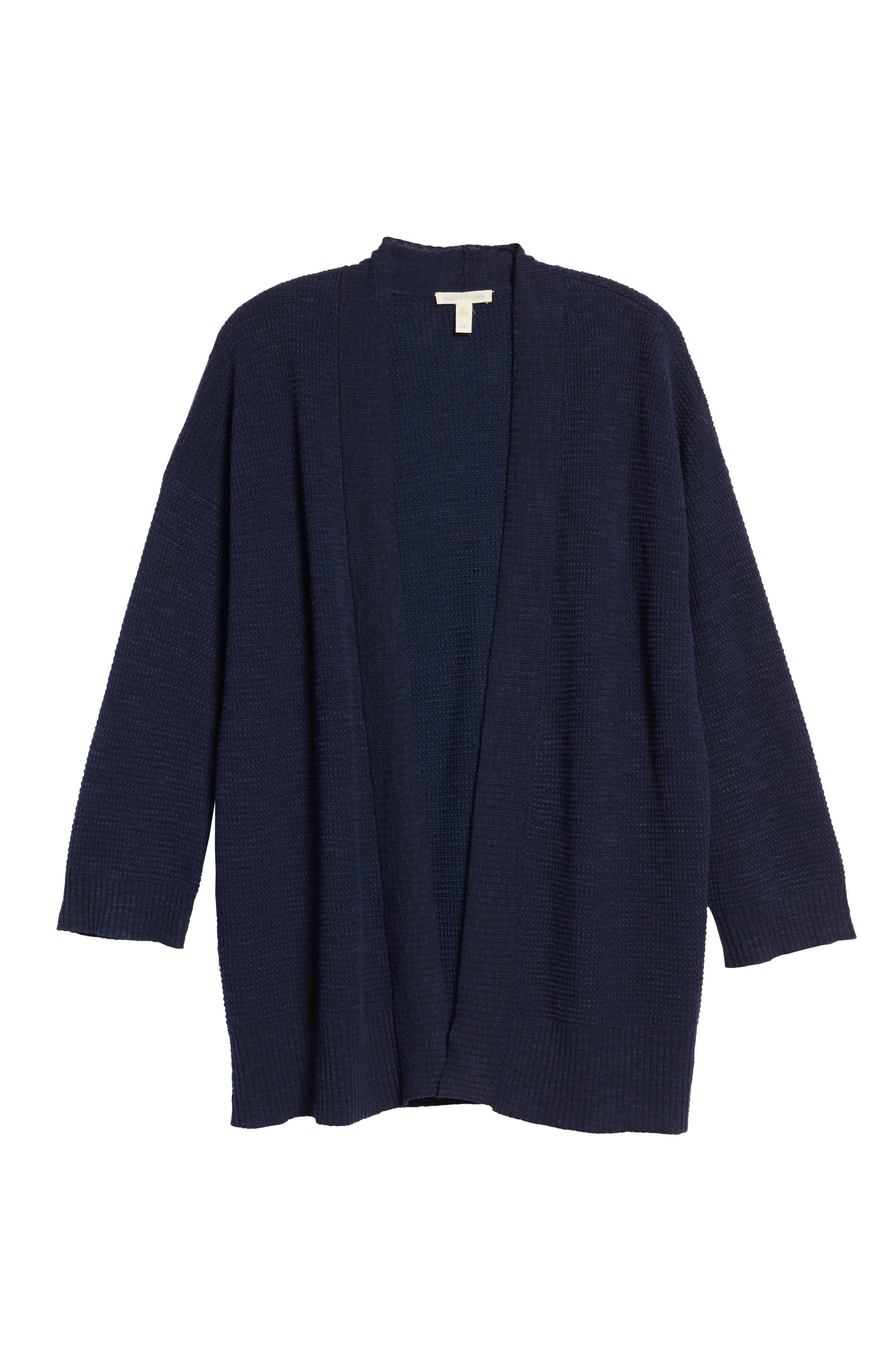 Organic Linen & Cotton Cardigan,                             Alternate thumbnail 12, color,