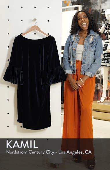 Bubble Sleeve Velvet Sheath Dress, sales video thumbnail